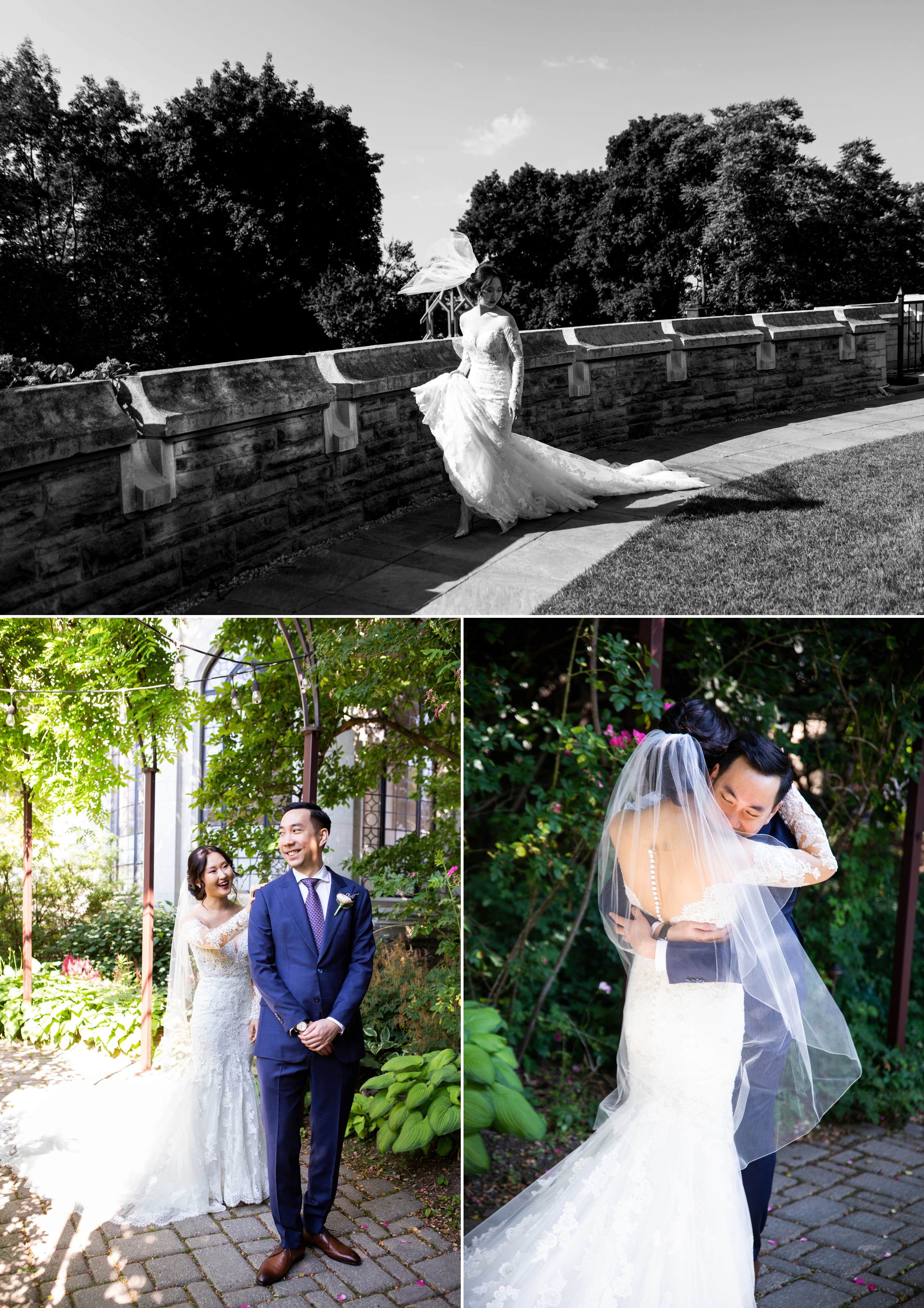 First Look Reveal Casa Loma Four Seasons Chinese Wedding Zsuzsi Pal Photography Cindy Brian