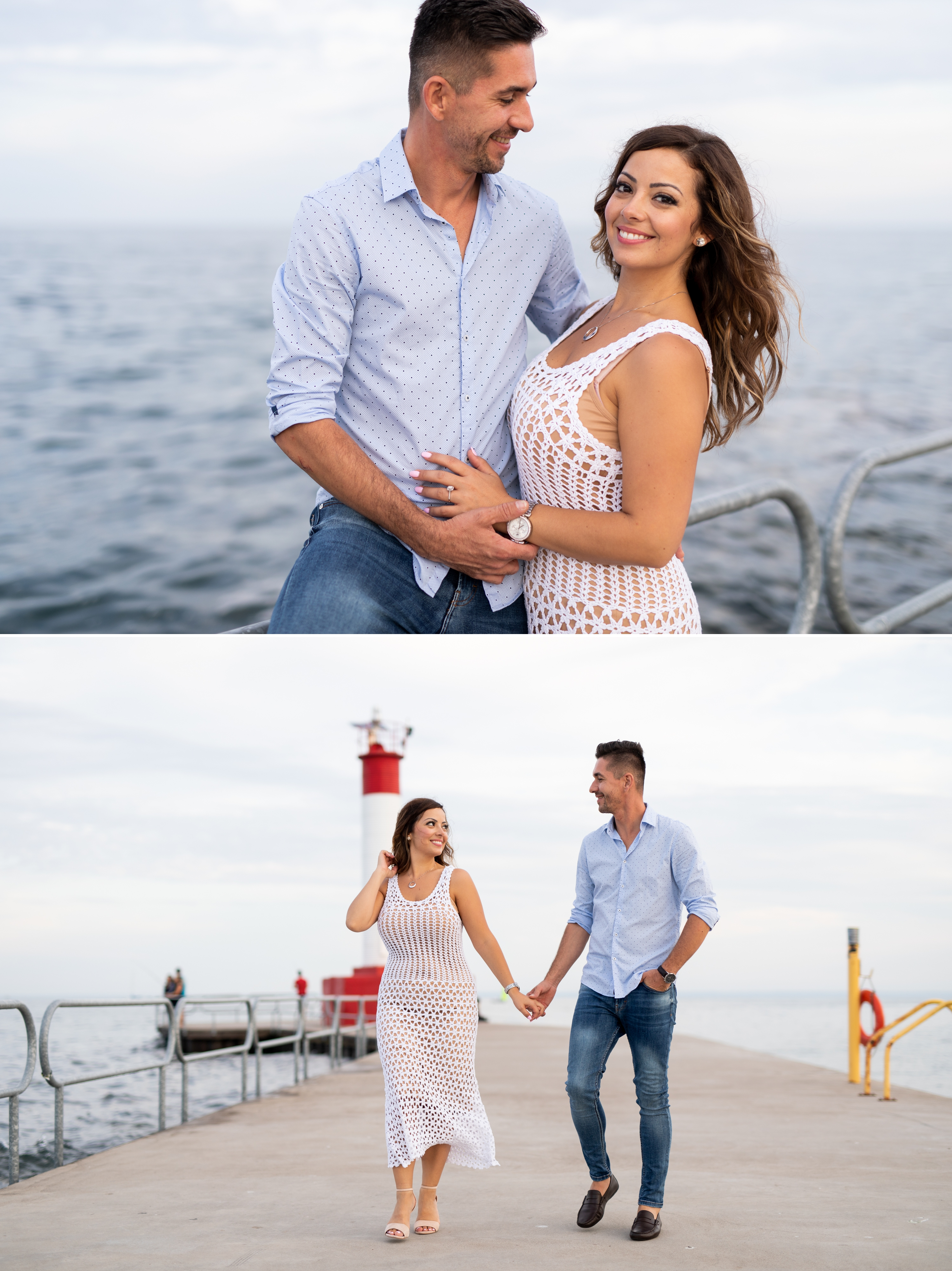 Lighthouse Walk Pier Emoke and Erno Engagement Oakville Pier Zsuzsi Pal Photography