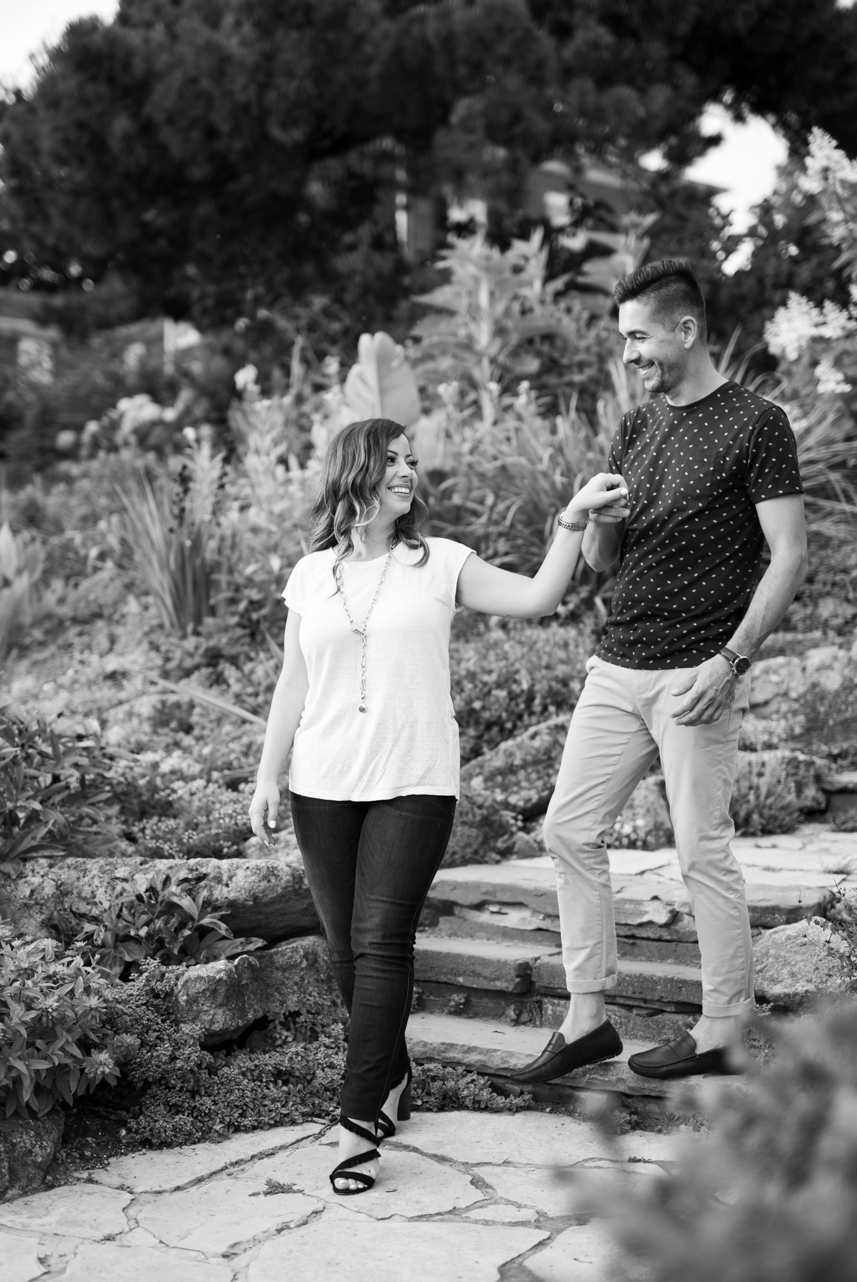 Garden Emoke and Erno Engagement Oakville Pier Zsuzsi Pal Photography
