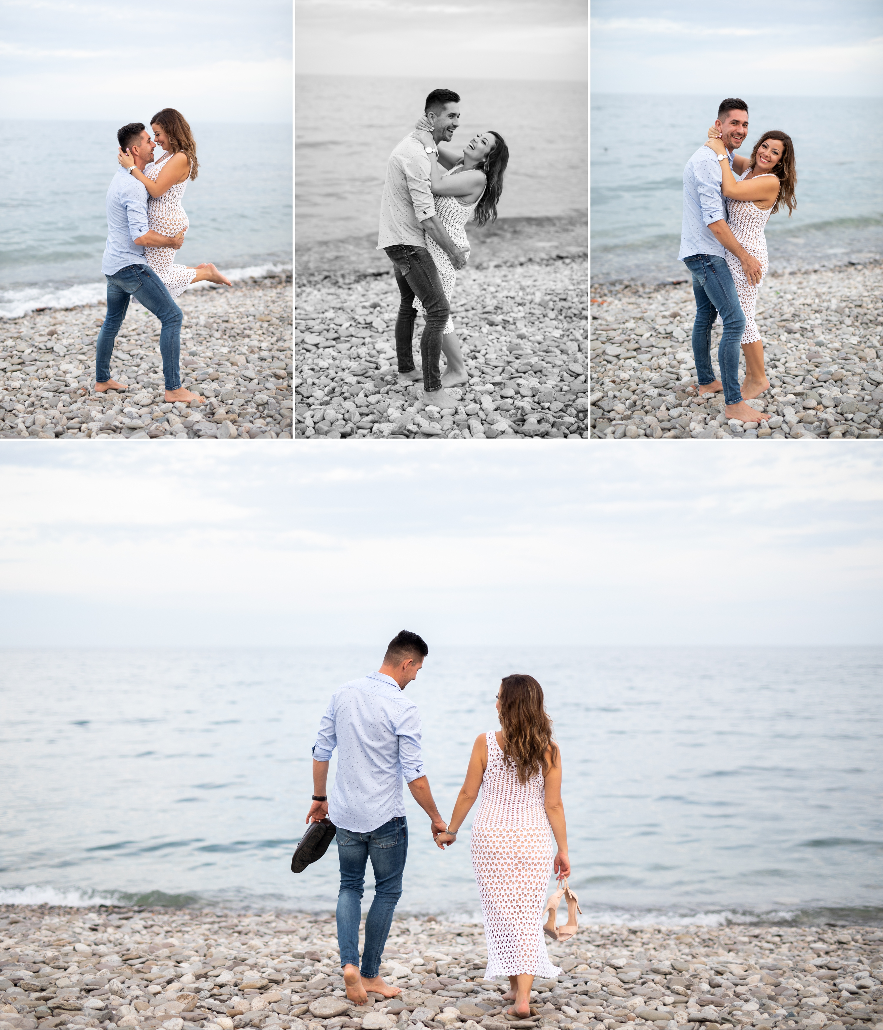 Kiss Laugh Emoke and Erno Engagement Oakville Pier Zsuzsi Pal Photography