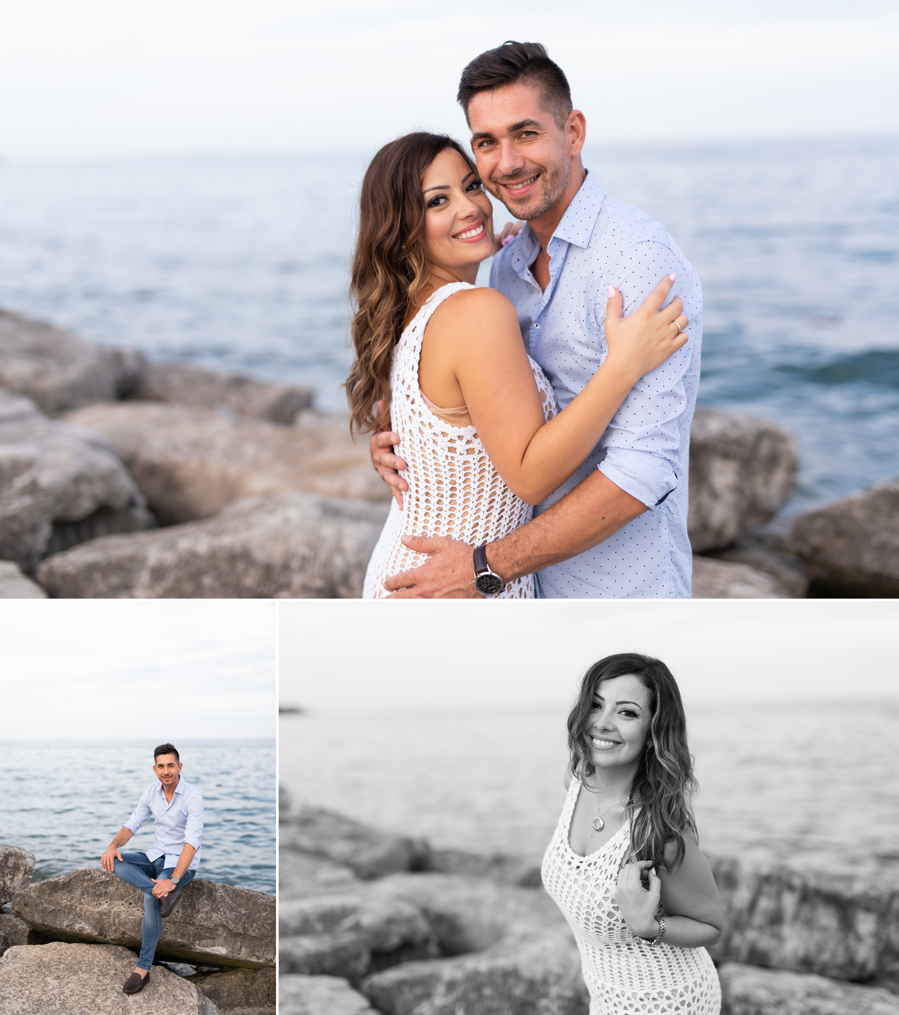 Bride Groom Emoke and Erno Engagement Oakville Pier Zsuzsi Pal Photography