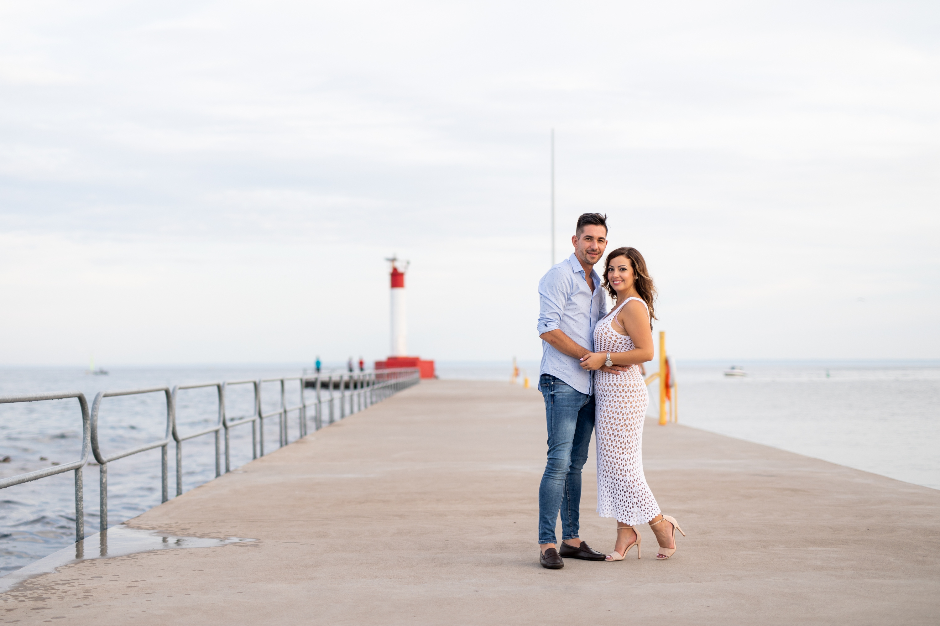 Couple Portrait Emoke and Erno Engagement Oakville Pier Zsuzsi Pal Photography