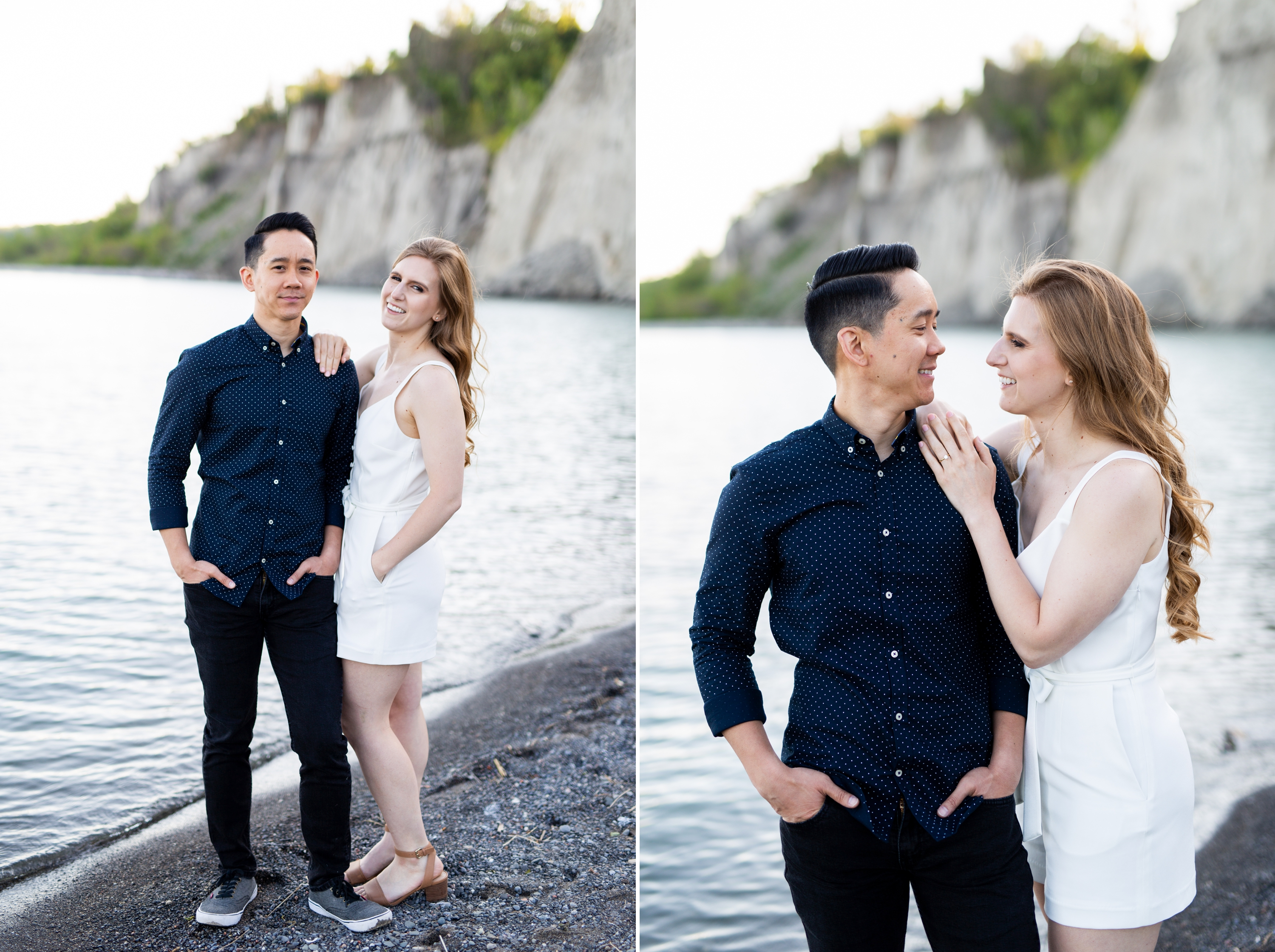 Bride and Groom Beach Scarborough Bluffs Engagement Summer Zsuzsi Pal Photography