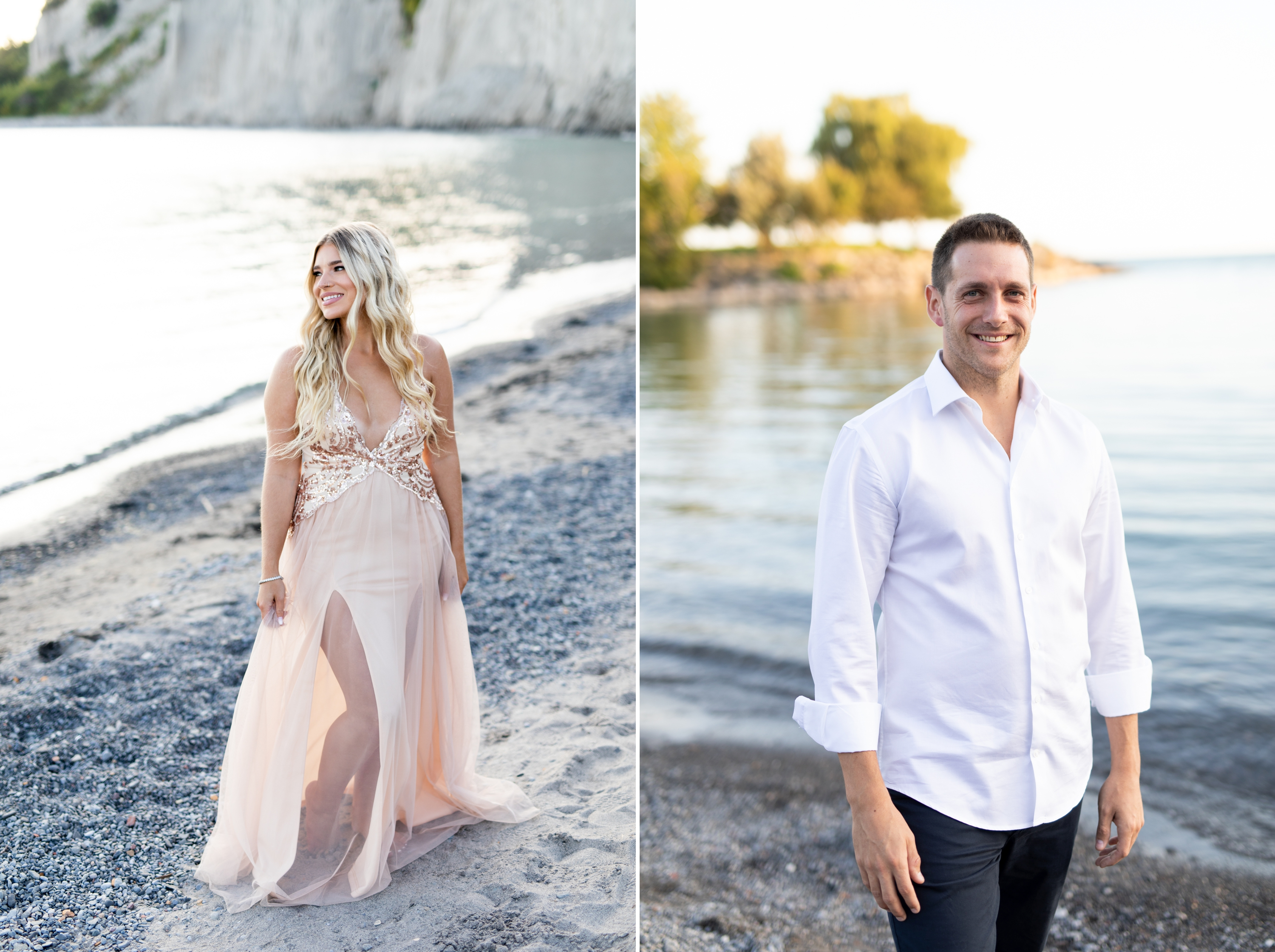 Zsuzsi Pal Photography, Guild Inn, Scarborough Bluffs, Engagement, Toronto, Pink Dress