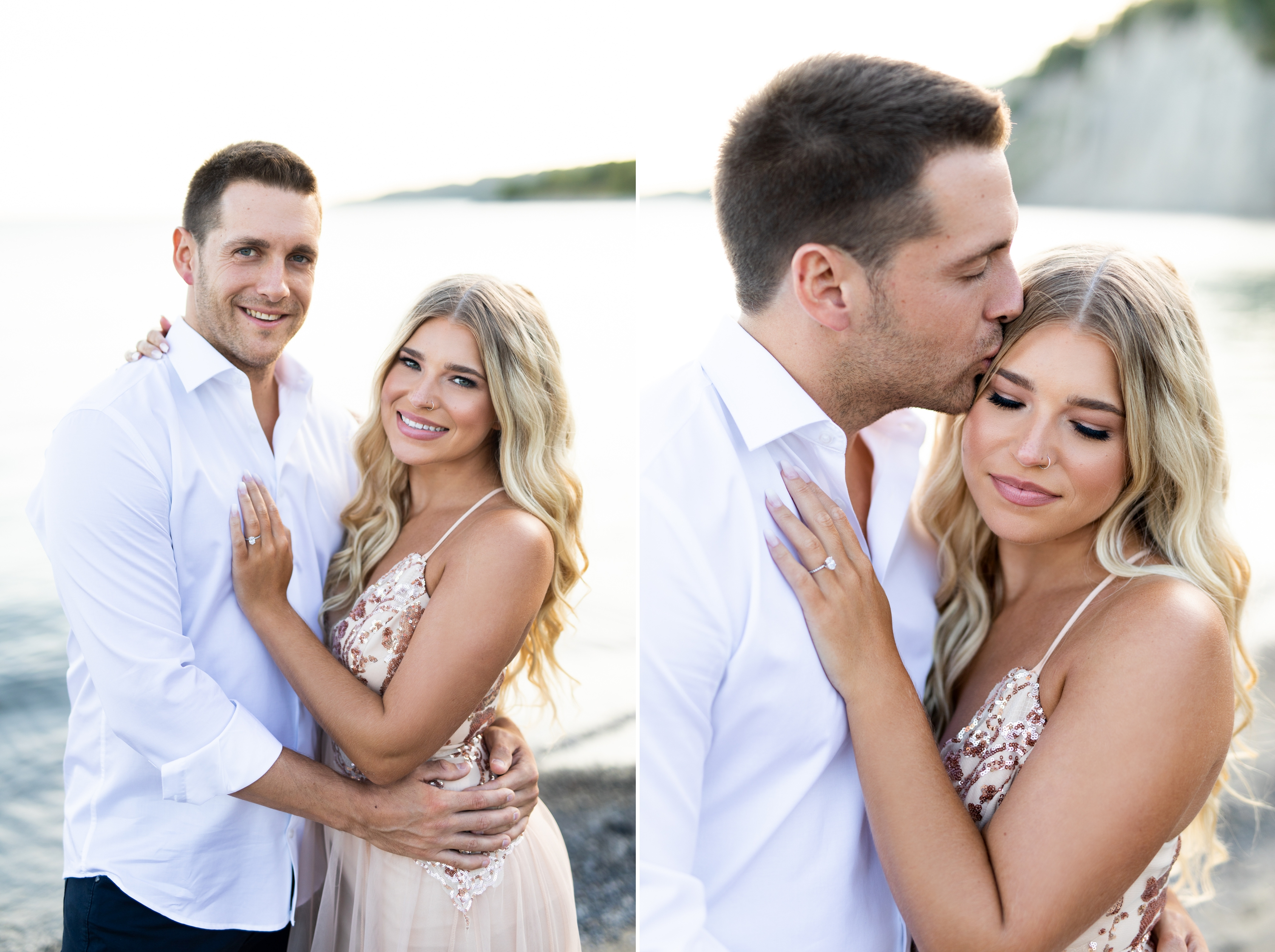 Zsuzsi Pal Photography, Guild Inn, Scarborough Bluffs, Engagement, Toronto, Kiss