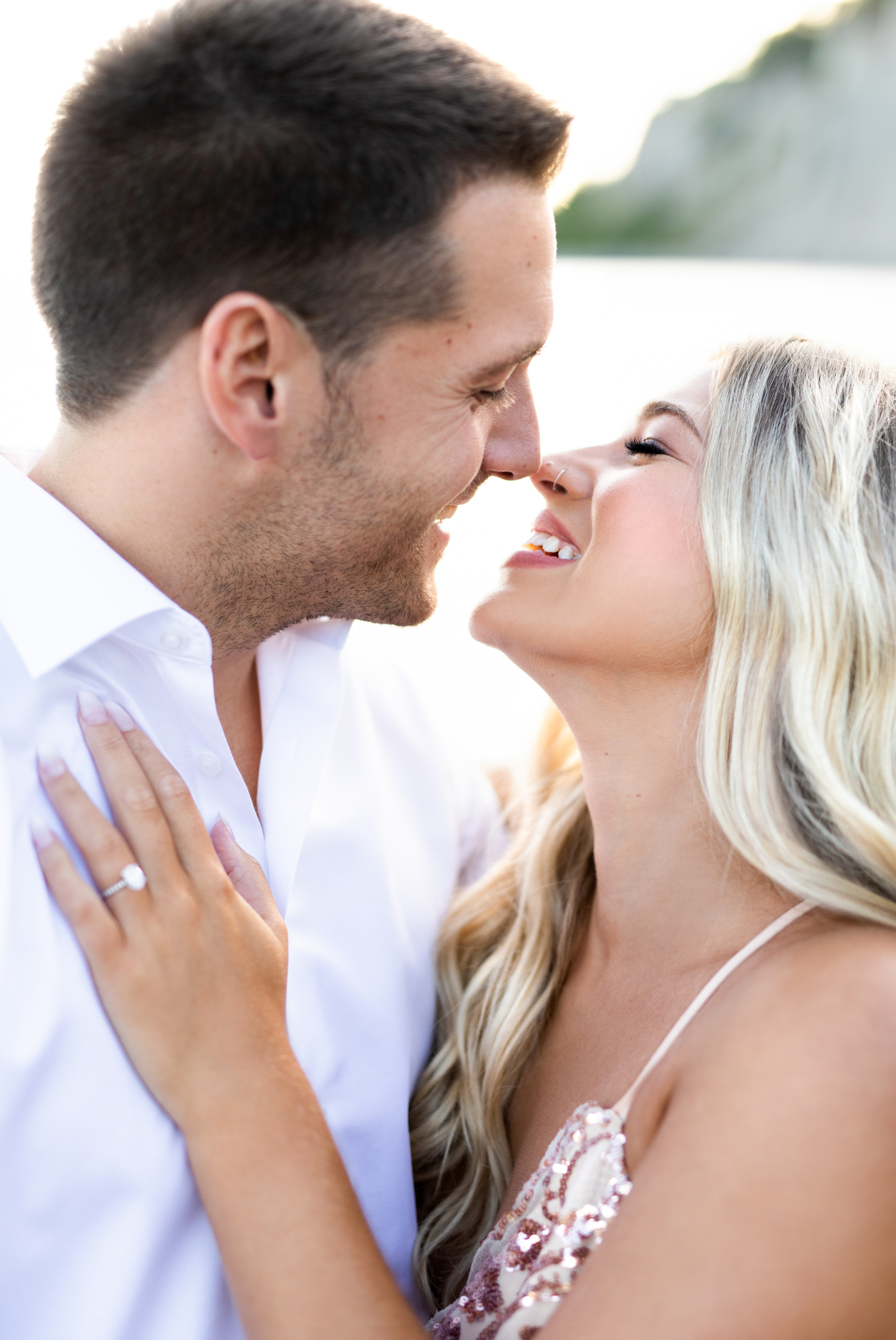 Zsuzsi Pal Photography, Guild Inn, Scarborough Bluffs, Engagement, Toronto, Kiss, Smiles