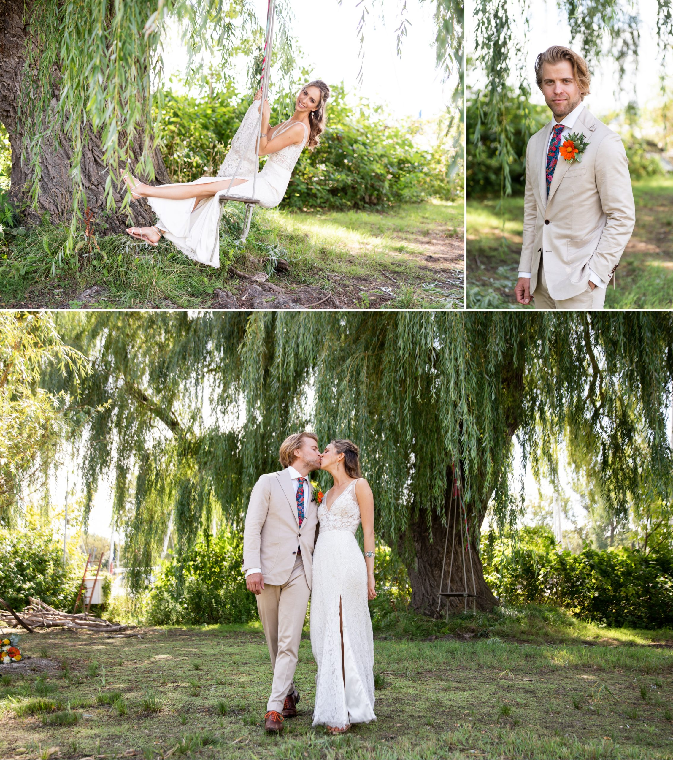 Swing Toronto Ward's Island Summer Wedding Zsuzsi Pal Photography Kiss