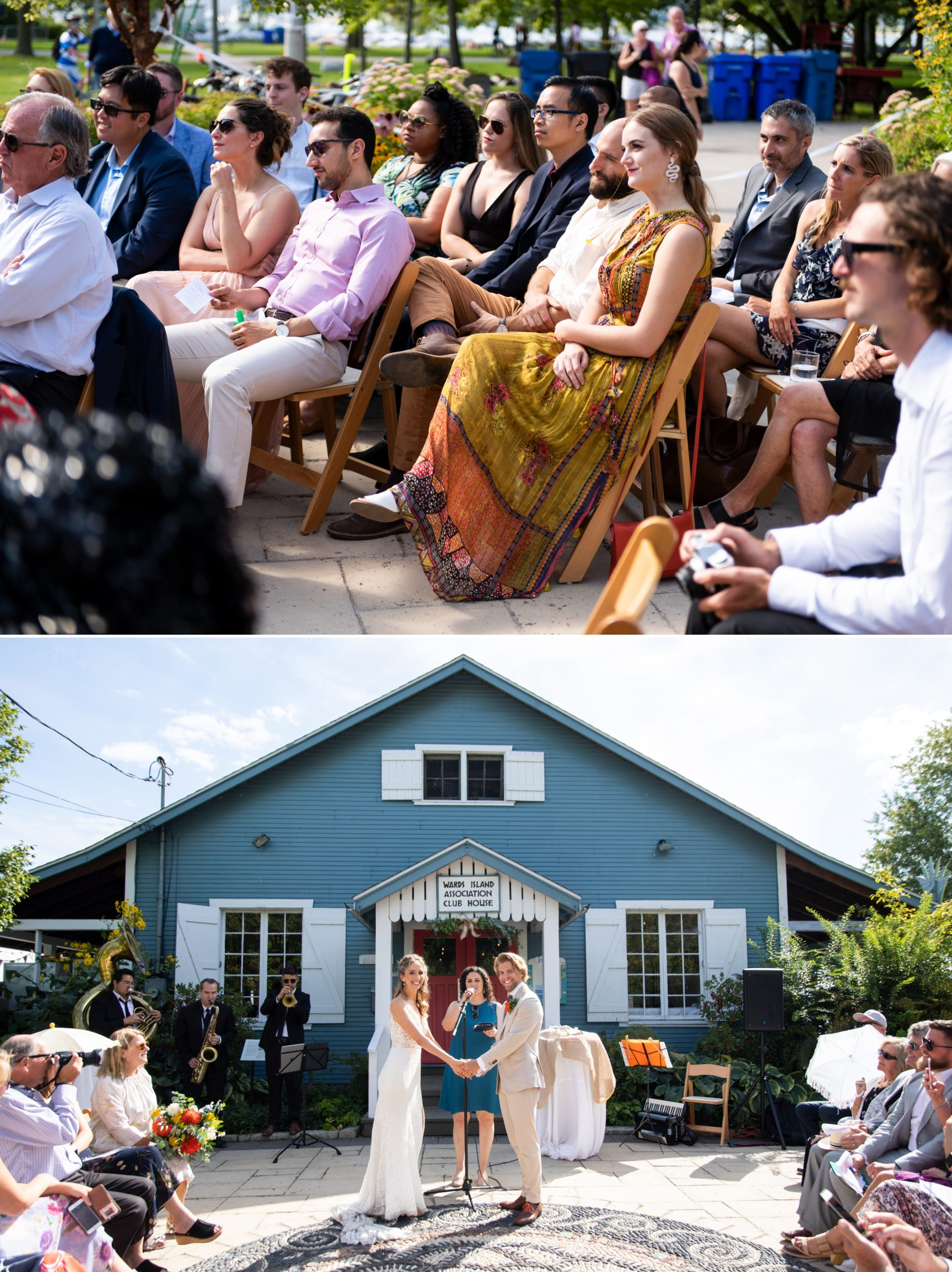 Blue House Ceremony Toronto Ward's Island Summer Wedding Zsuzsi Pal Photography