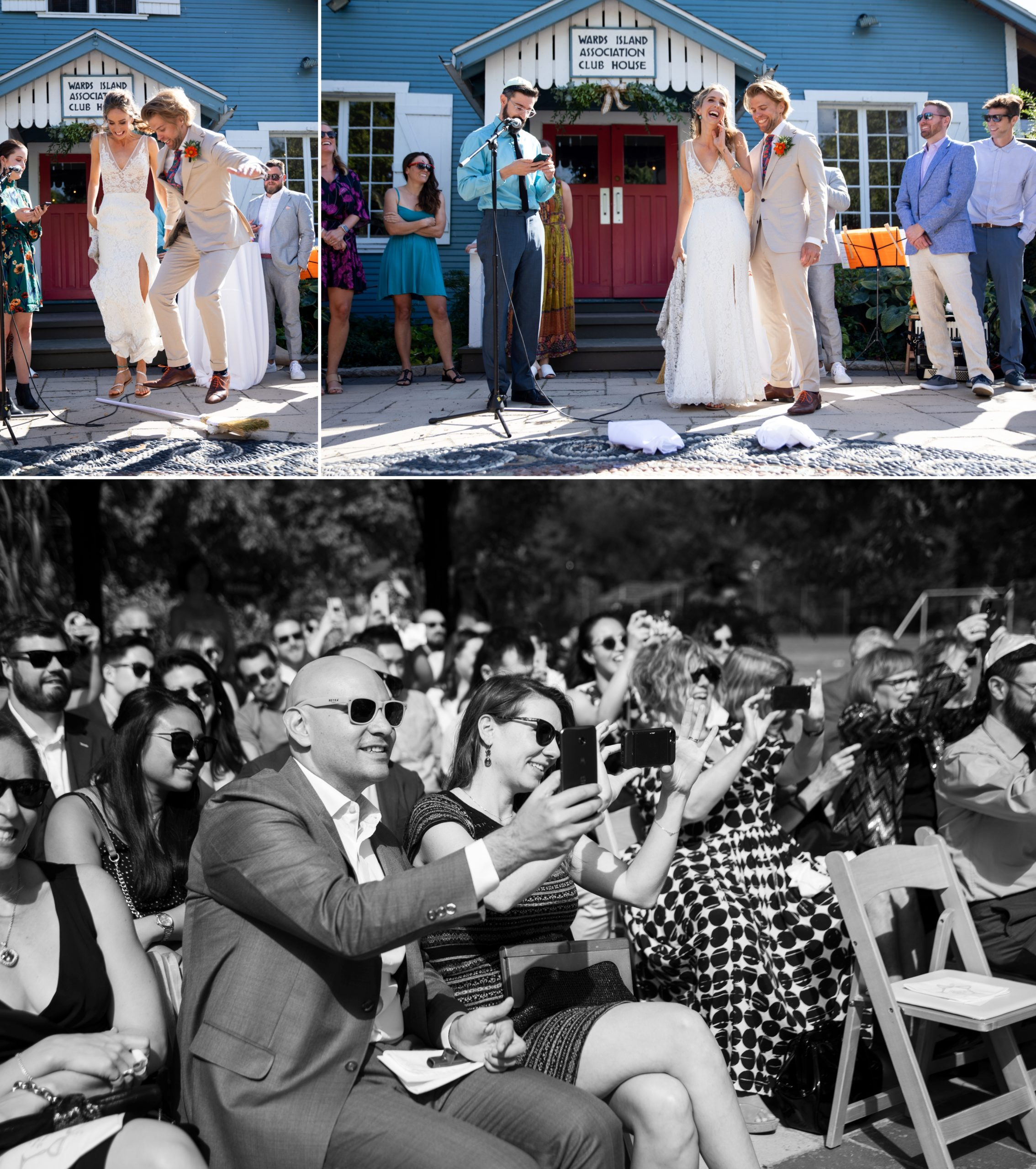 Fun Ceremony Toronto Ward's Island Summer Wedding Zsuzsi Pal Photography