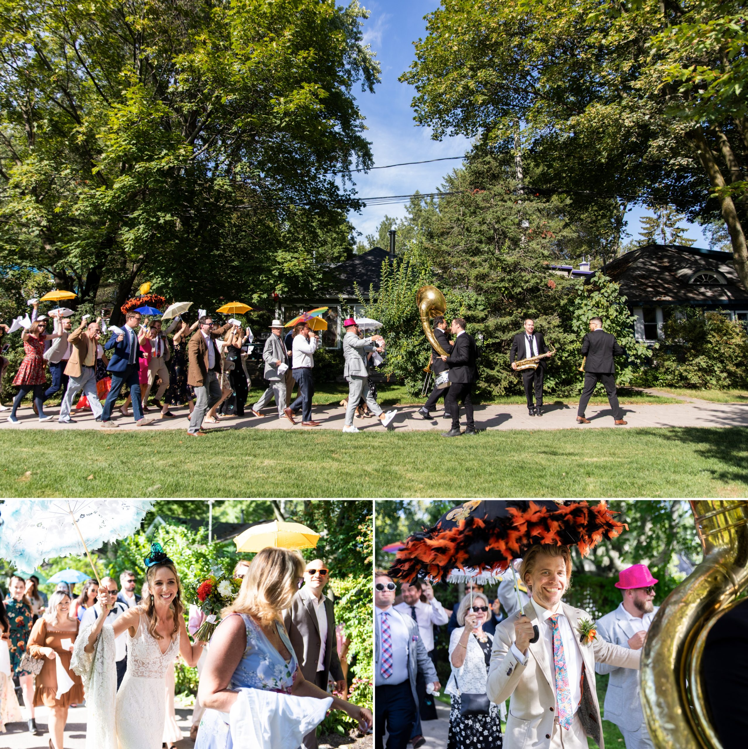 2nd Line Toronto Ward's Island Summer Wedding Zsuzsi Pal Photography