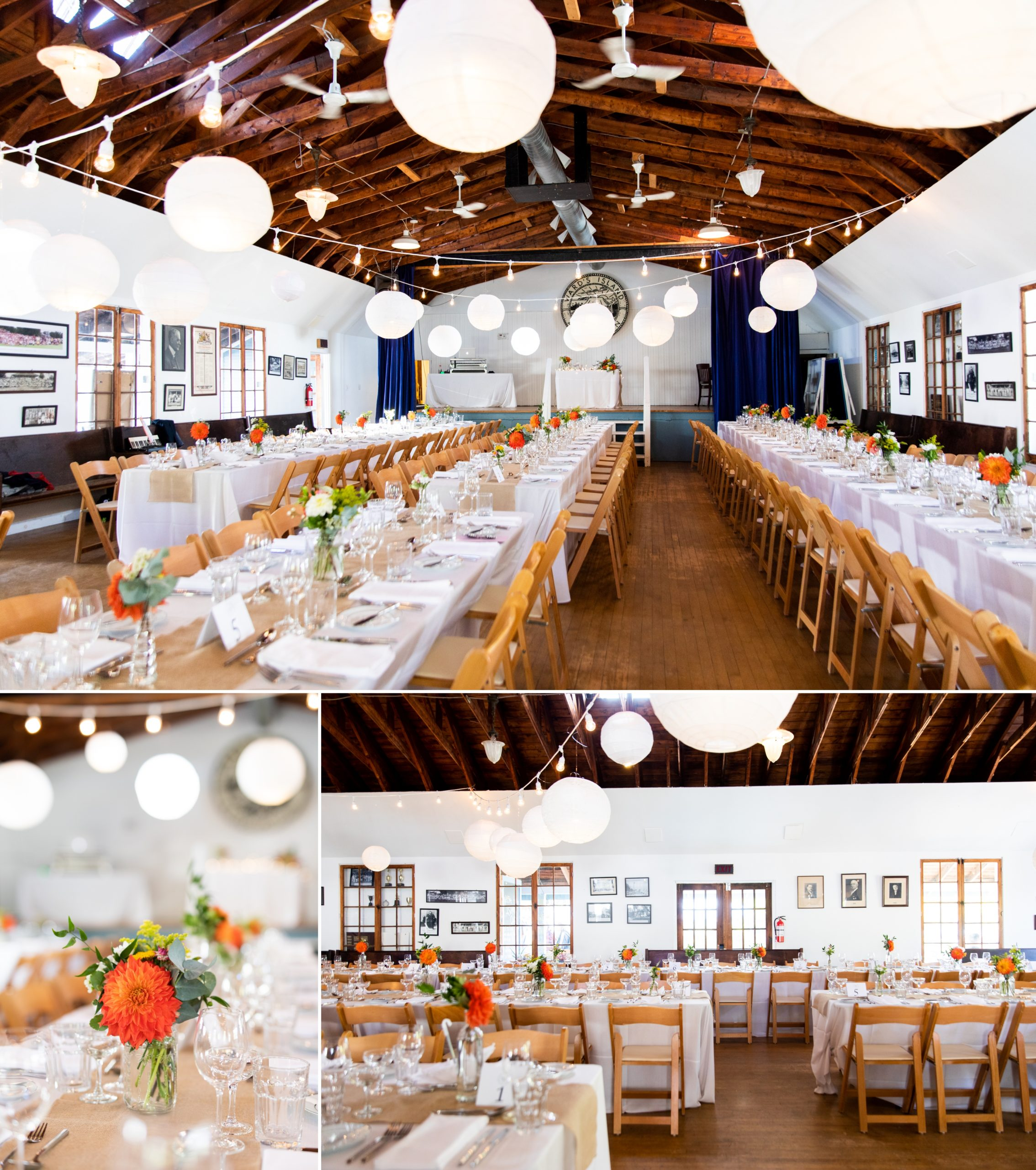 Reception Decor Toronto Ward's Island Summer Wedding Zsuzsi Pal Photography
