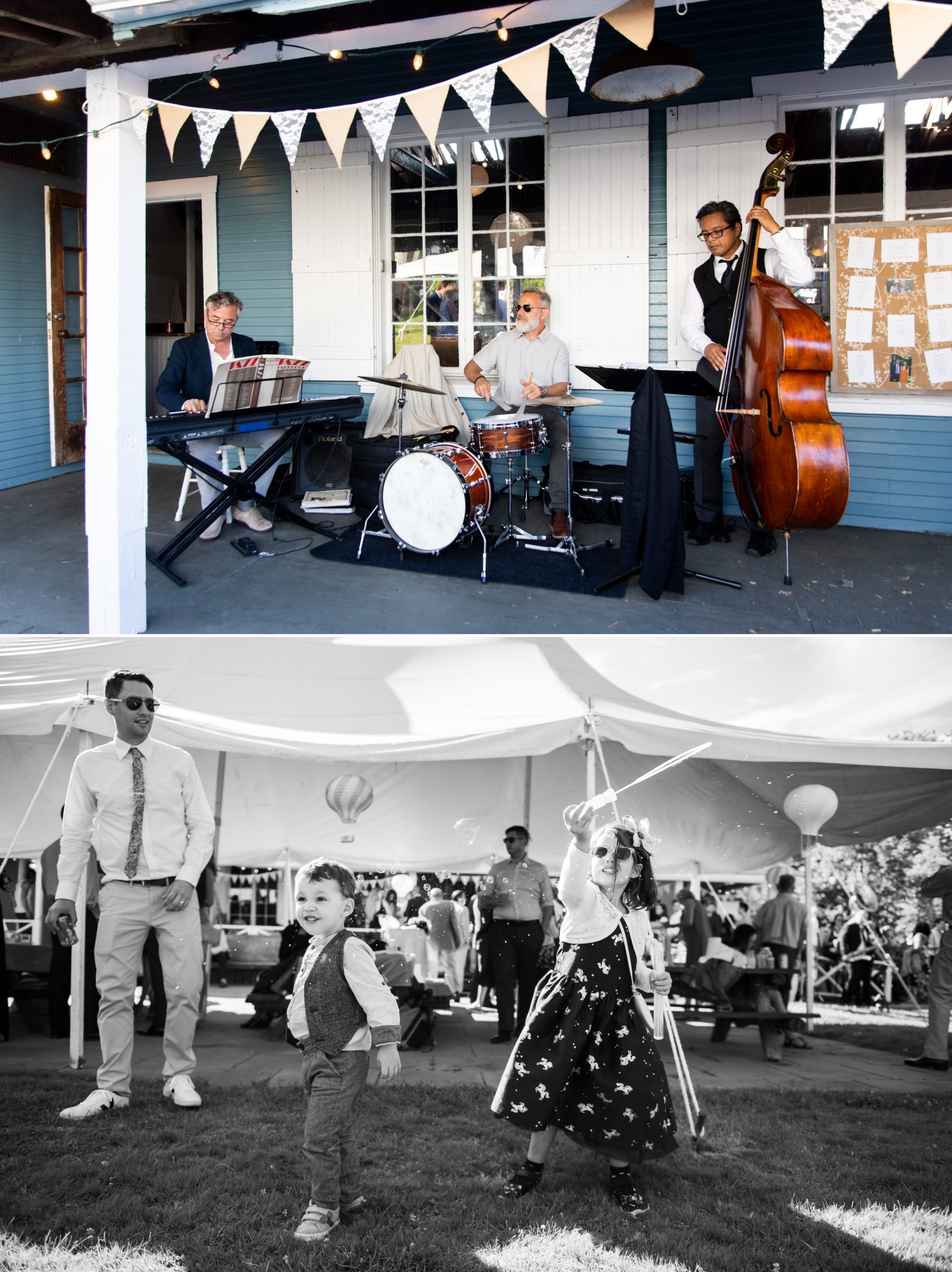 Jazz Band Live Music Toronto Ward's Island Summer Wedding Zsuzsi Pal Photography