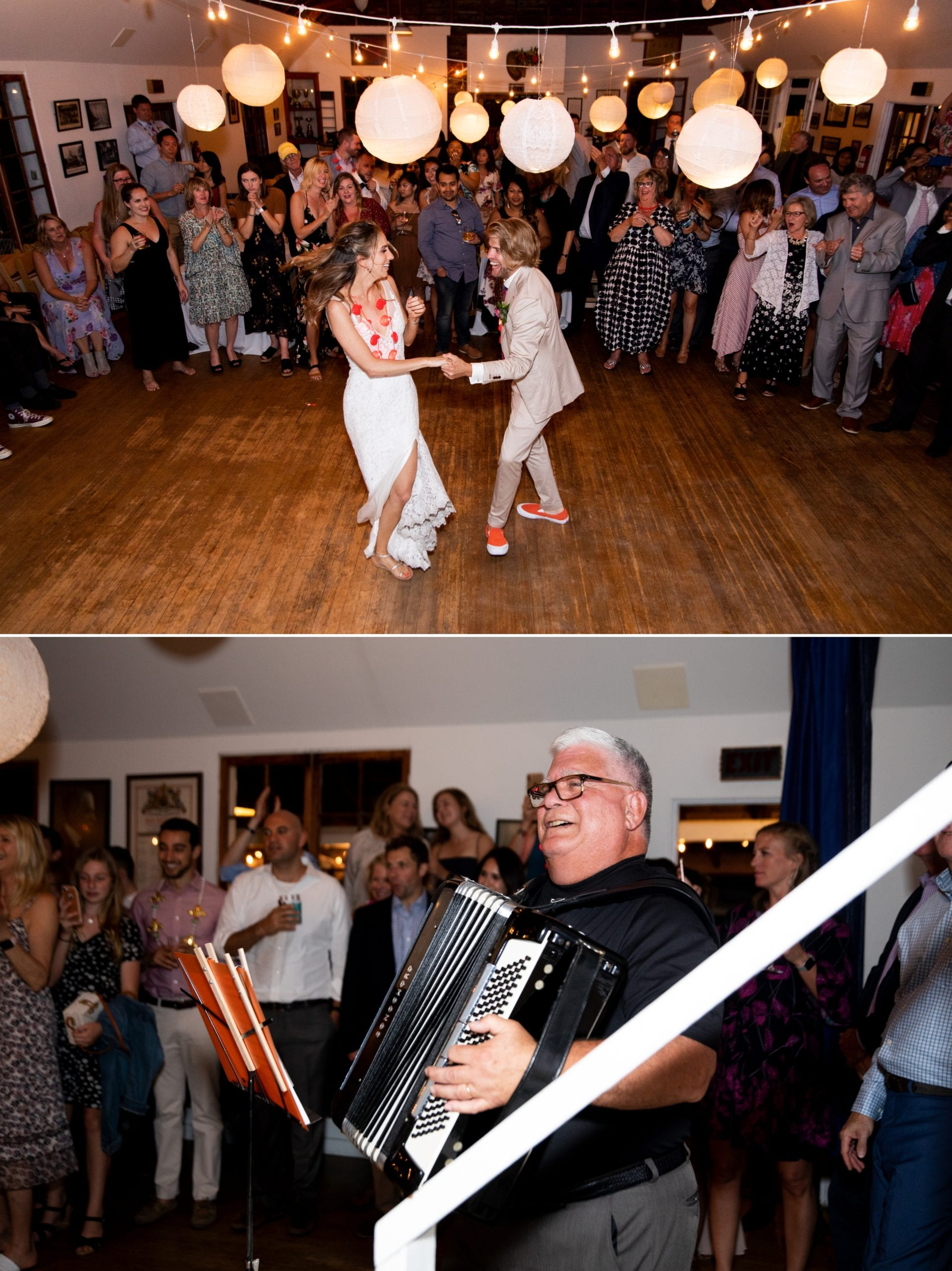 First Dance Accordian Toronto Ward's Island Summer Wedding Zsuzsi Pal Photography
