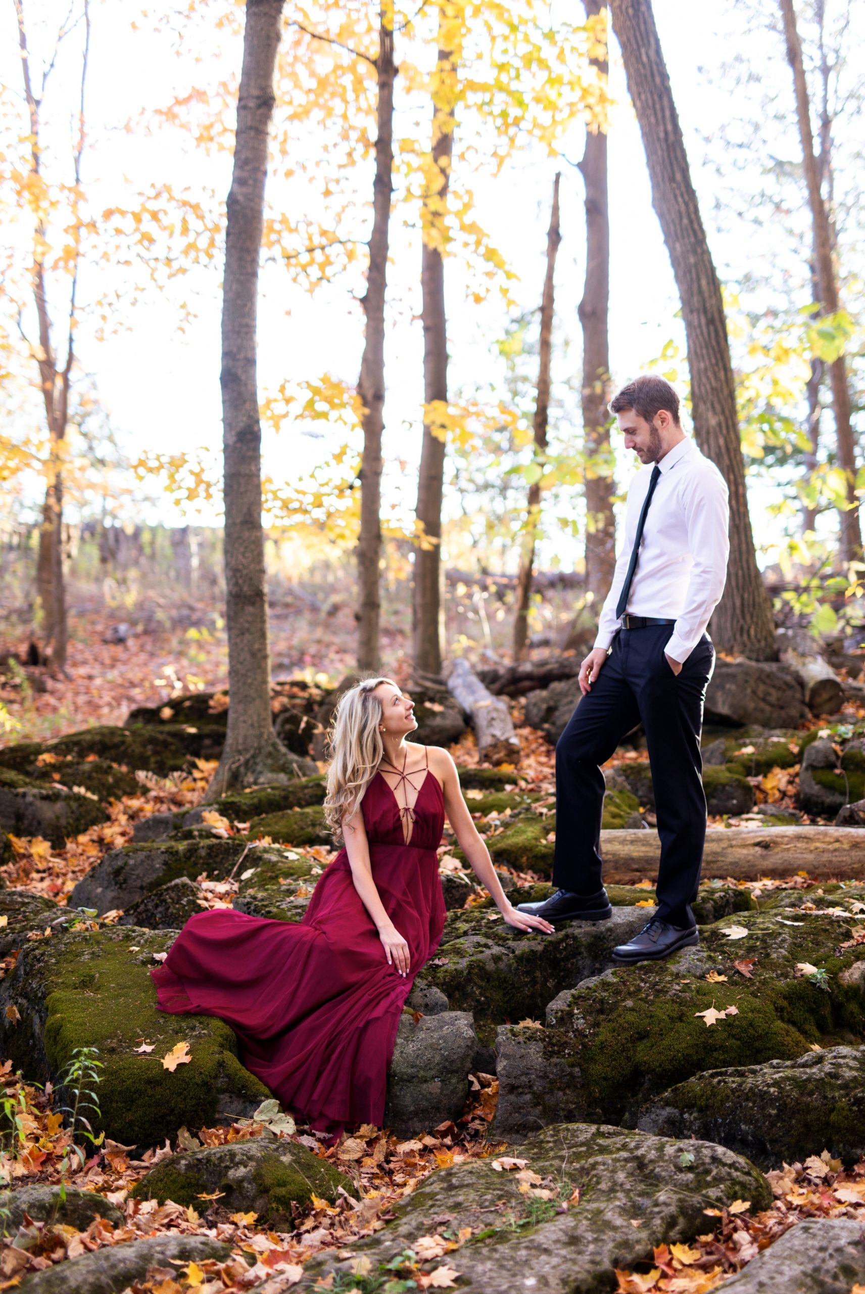 Editorial Rattlesnake Point Fall Autumn Engagement Milton Zsuzsi Pal Photography