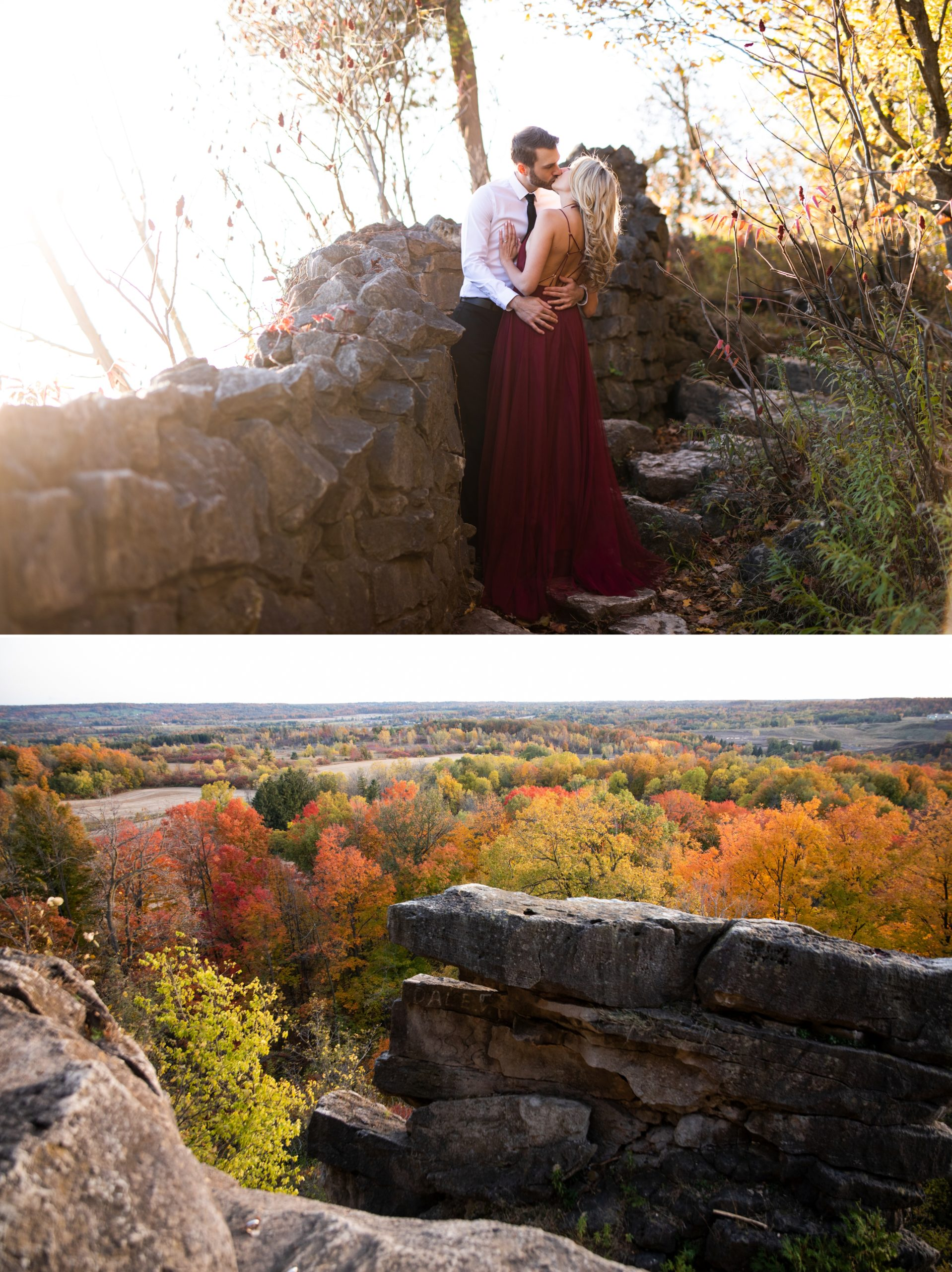 Look out Cliff Rattlesnake Point Fall Autumn Engagement Milton Zsuzsi Pal Photography
