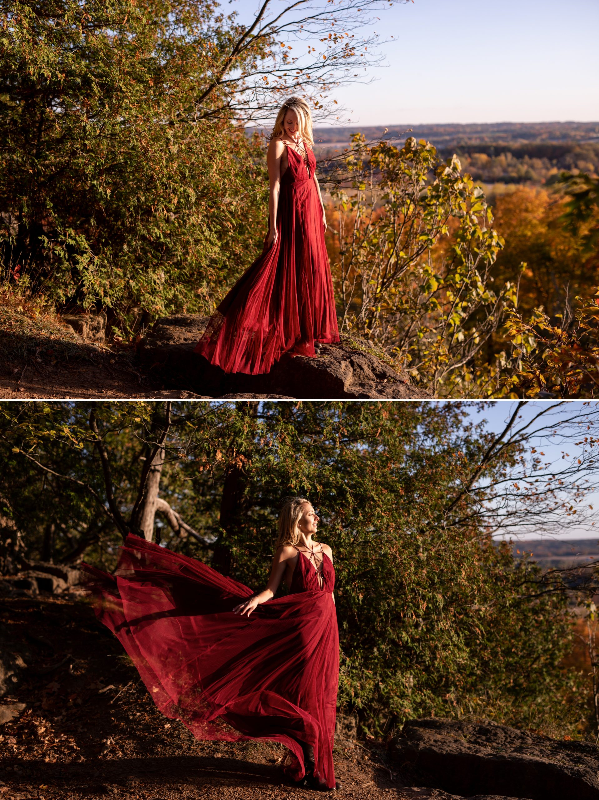 Sunset Light Rattlesnake Point Fall Autumn Engagement Milton Zsuzsi Pal Photography