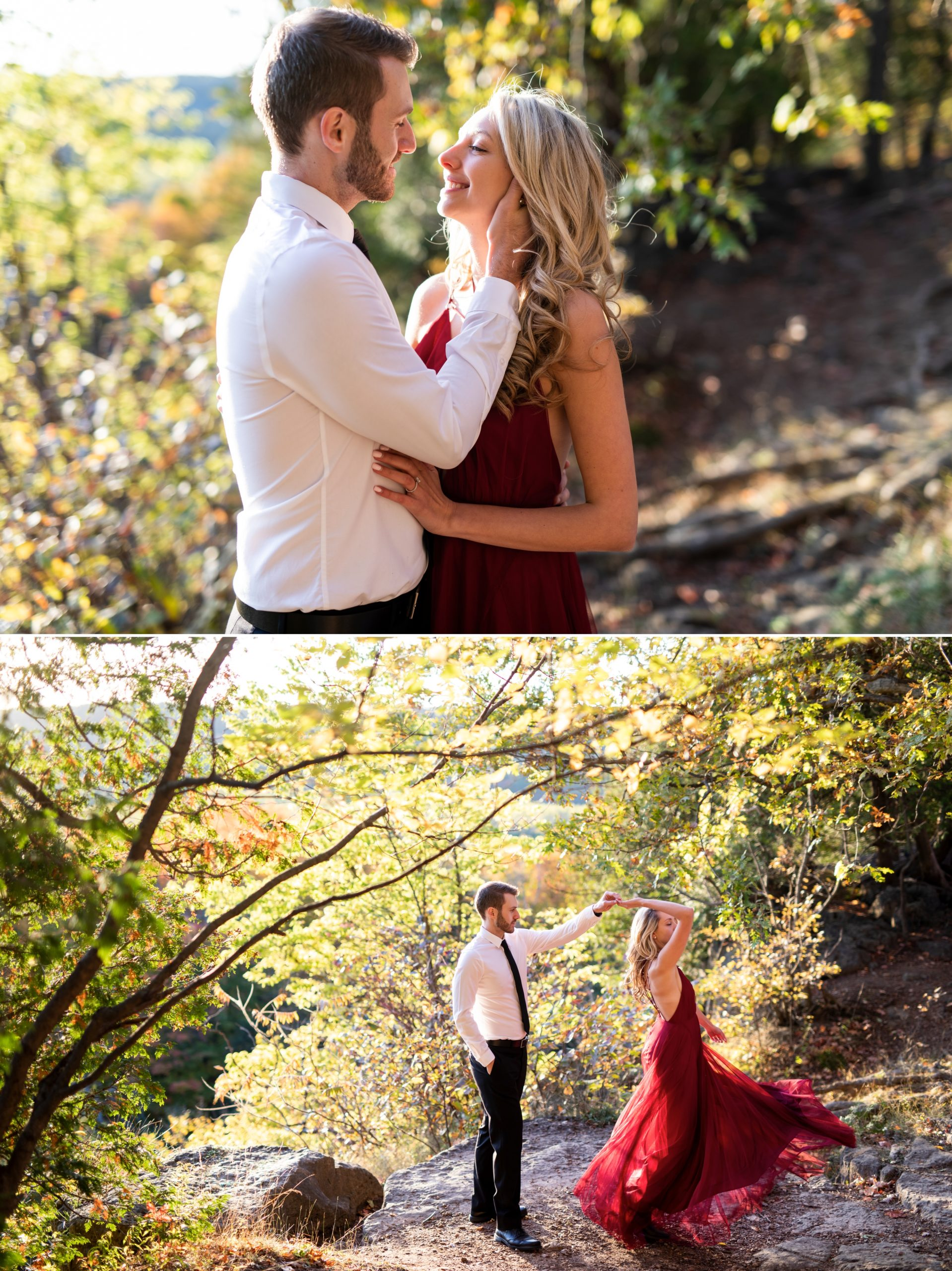 Dance Forest Rattlesnake Point Fall Autumn Engagement Milton Zsuzsi Pal Photography