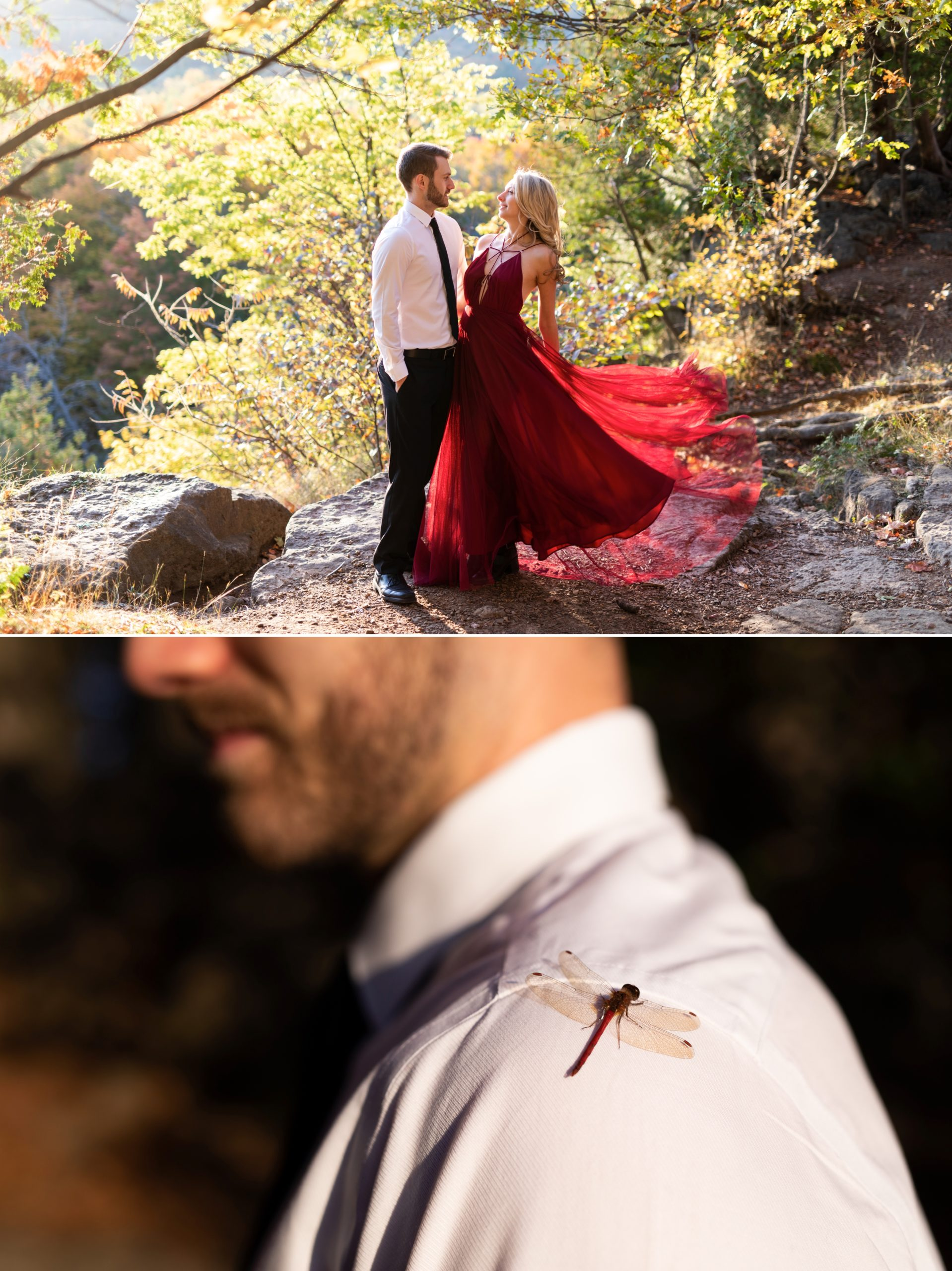 Dragon Fly Dance Rattlesnake Point Fall Autumn Engagement Milton Zsuzsi Pal Photography