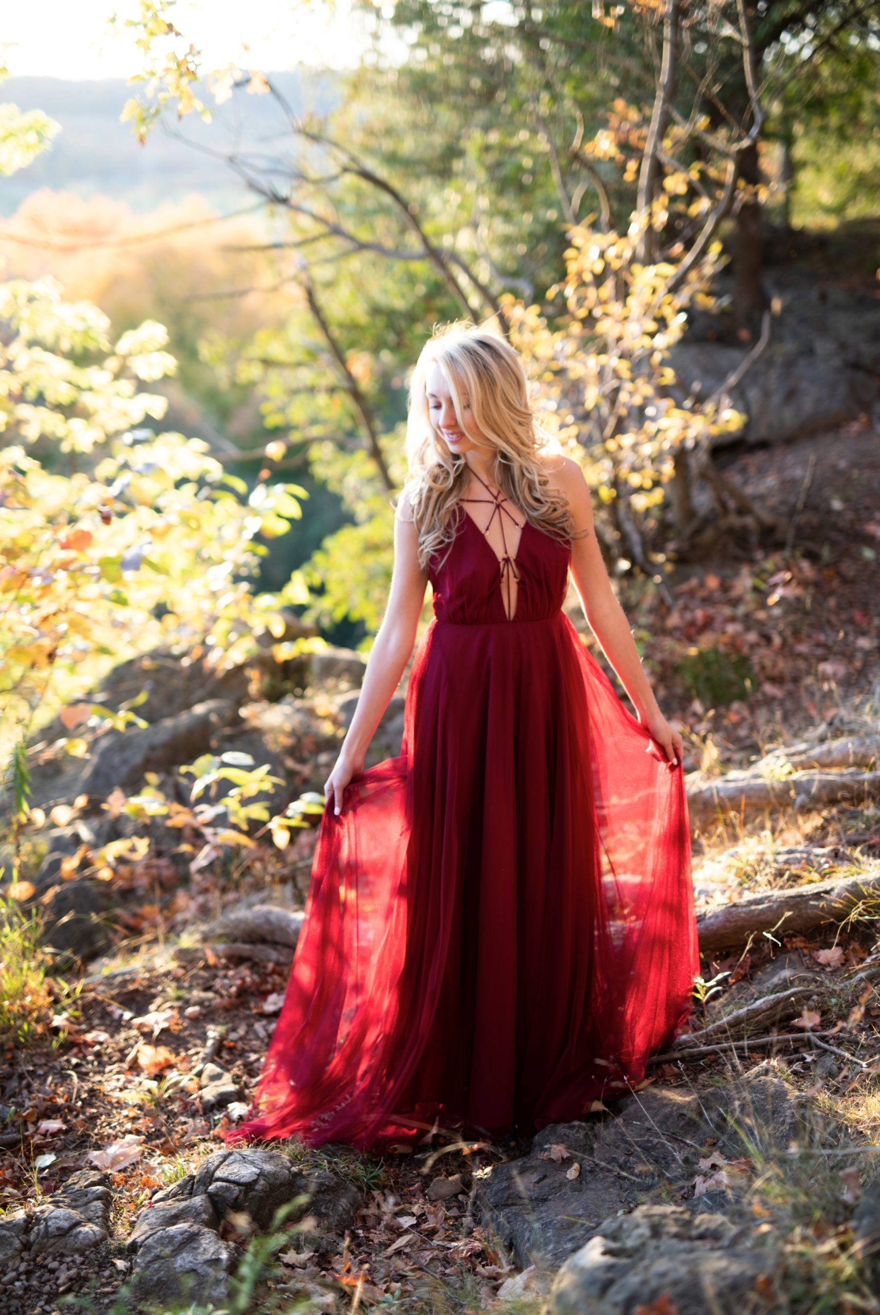 Tulle Dress Rattlesnake Point Fall Autumn Engagement Milton Zsuzsi Pal Photography