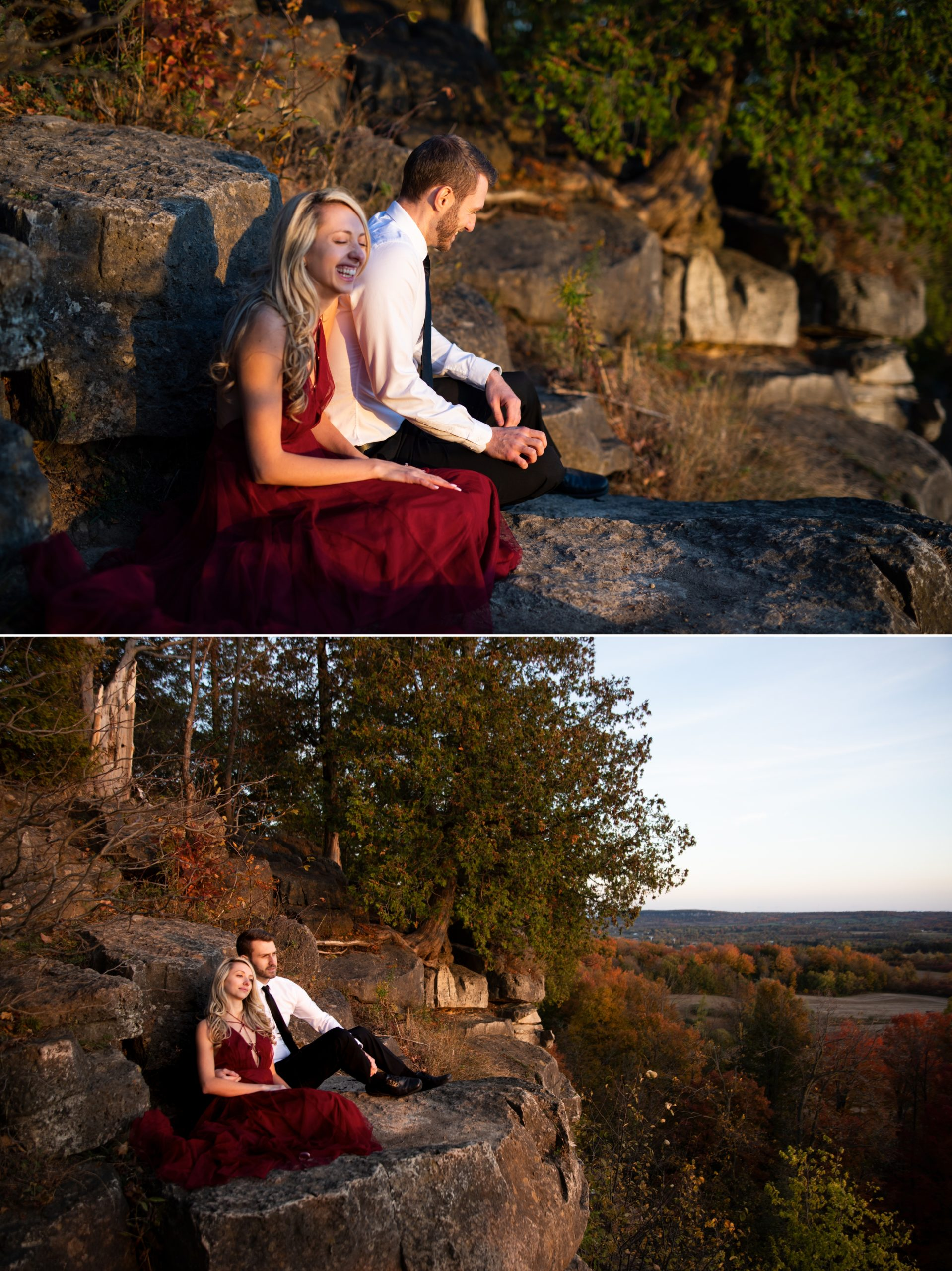 View Rattlesnake Point Fall Autumn Engagement Milton Zsuzsi Pal Photography