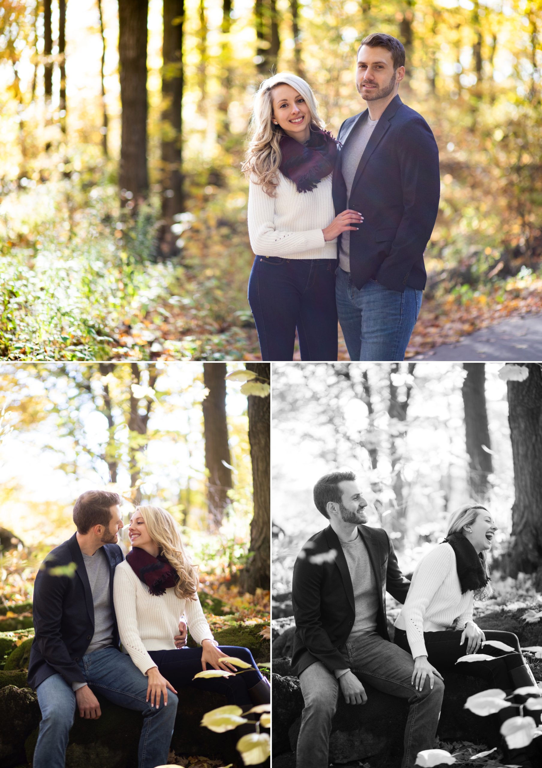 Laughs Candid Rattlesnake Point Fall Autumn Engagement Milton Zsuzsi Pal Photography