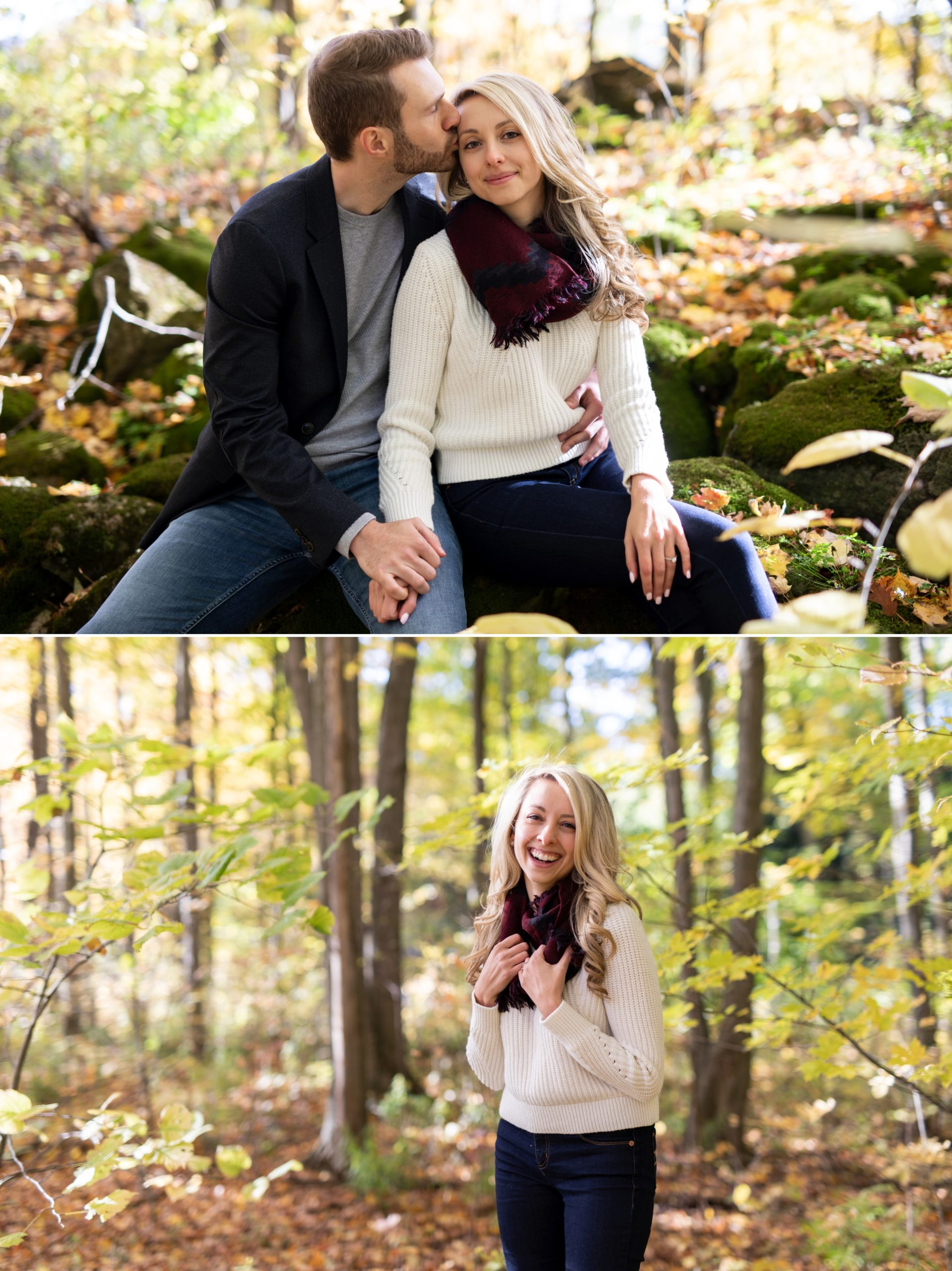 Snuggle Bride Rattlesnake Point Fall Autumn Engagement Milton Zsuzsi Pal Photography