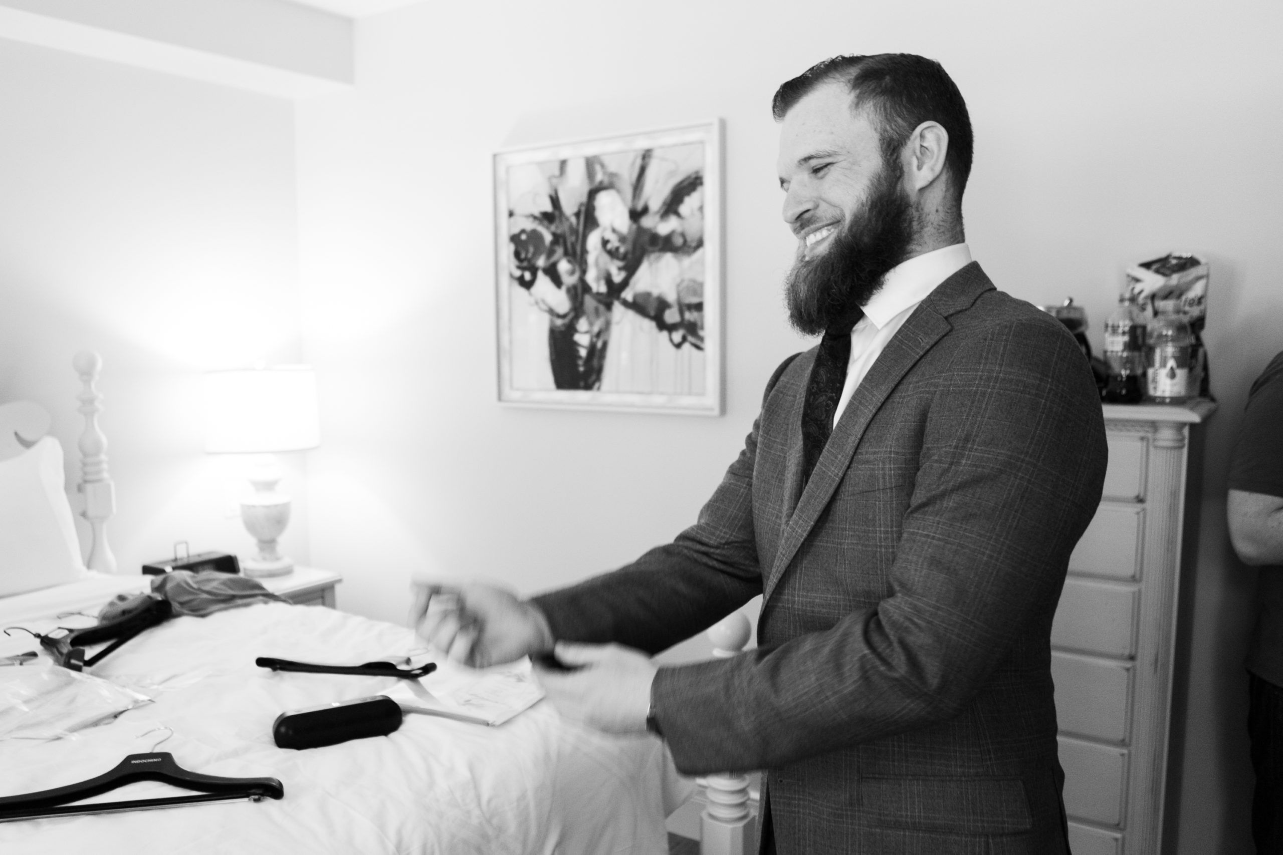 Groom Prep Winter Wedding, Ancaster, Hamilton, Zsuzsi Pal Photography