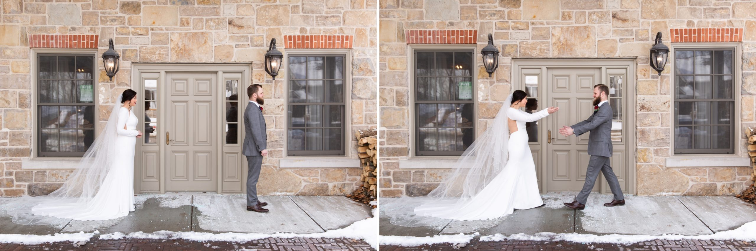 First Look Winter Wedding, Ancaster, Hamilton, Zsuzsi Pal Photography Reveal
