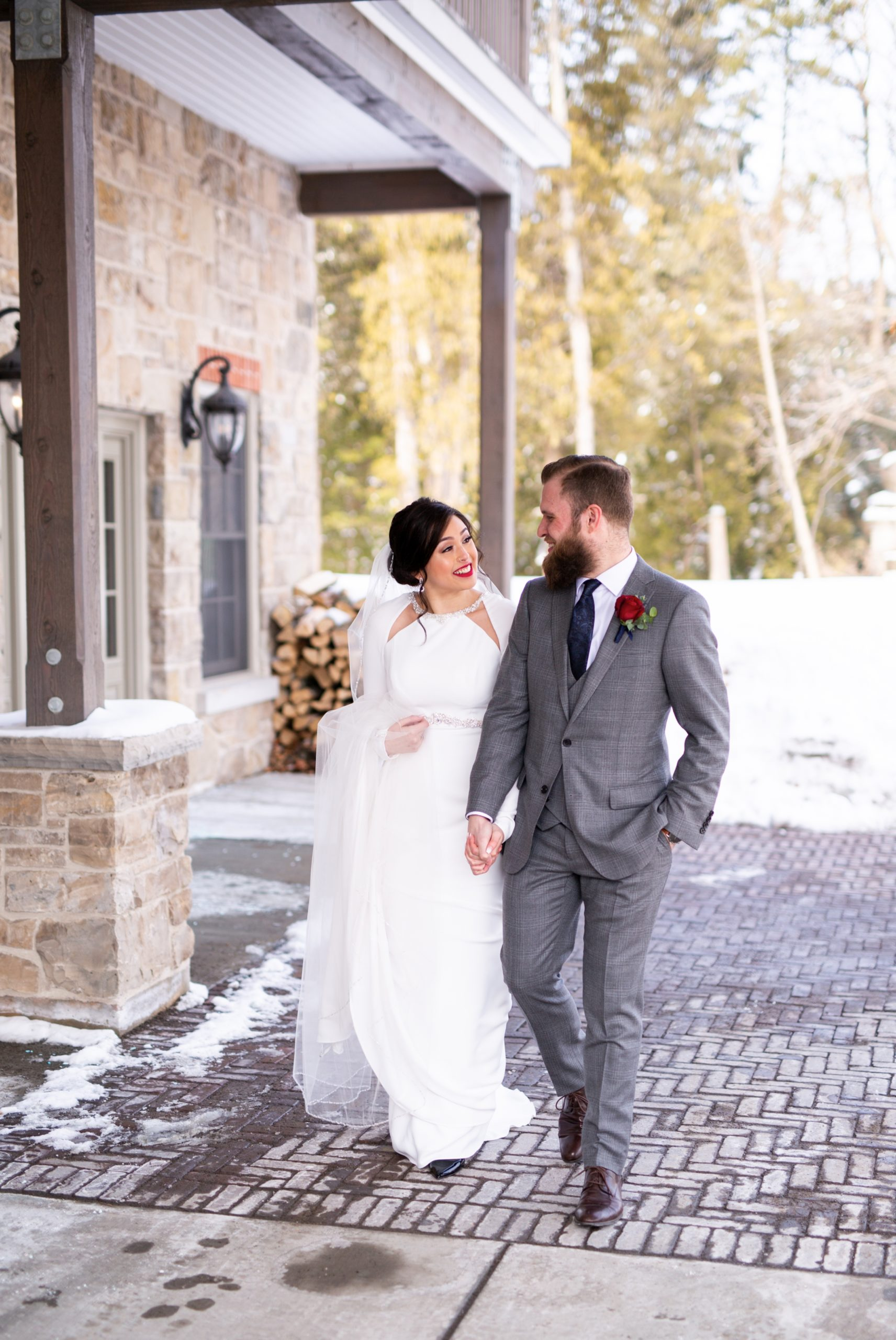 Bride Groom Candid Winter Wedding, Ancaster, Hamilton, Zsuzsi Pal Photography