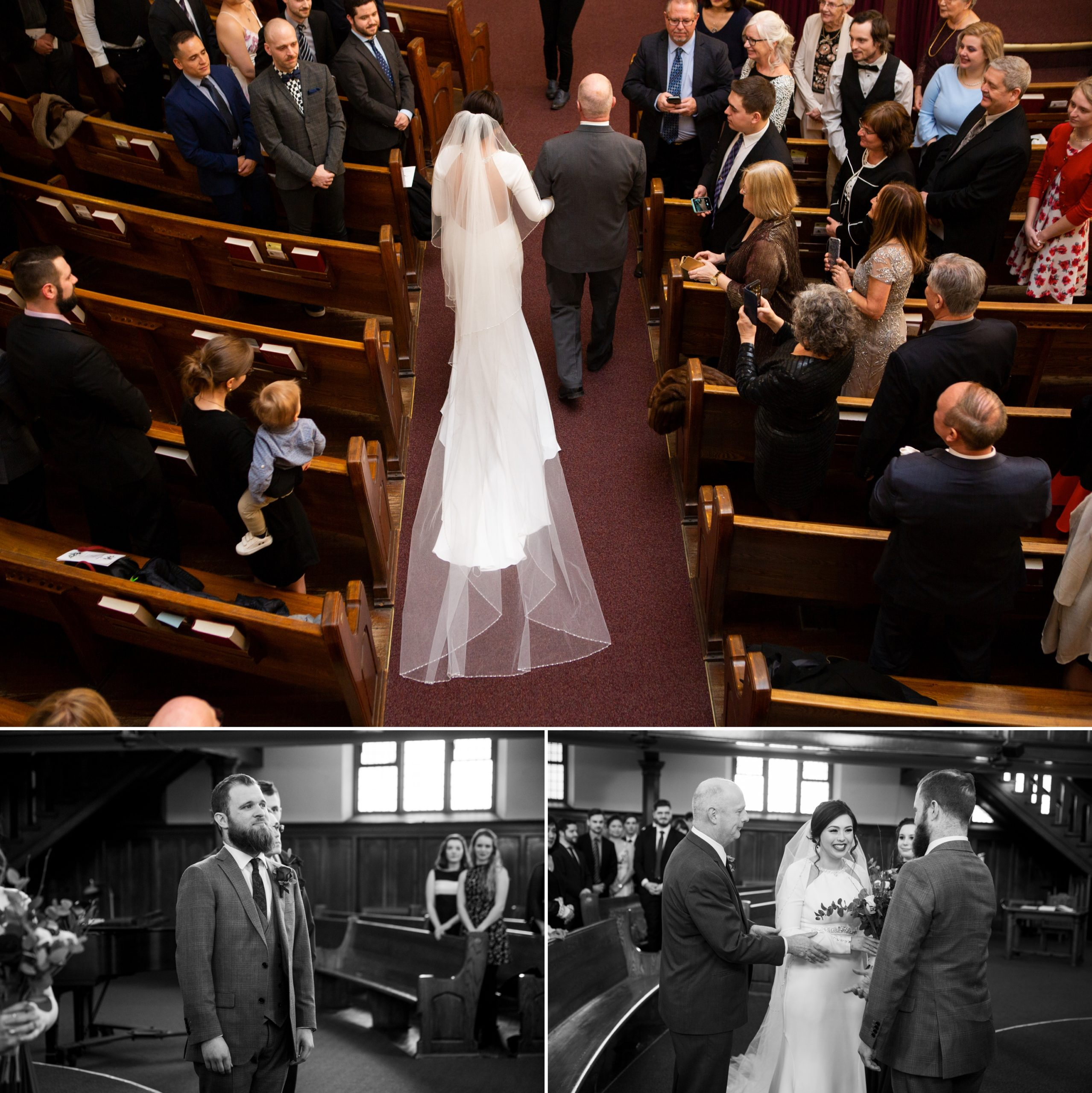 Church Ceremony Winter Wedding, Ancaster, Hamilton, Zsuzsi Pal Photography