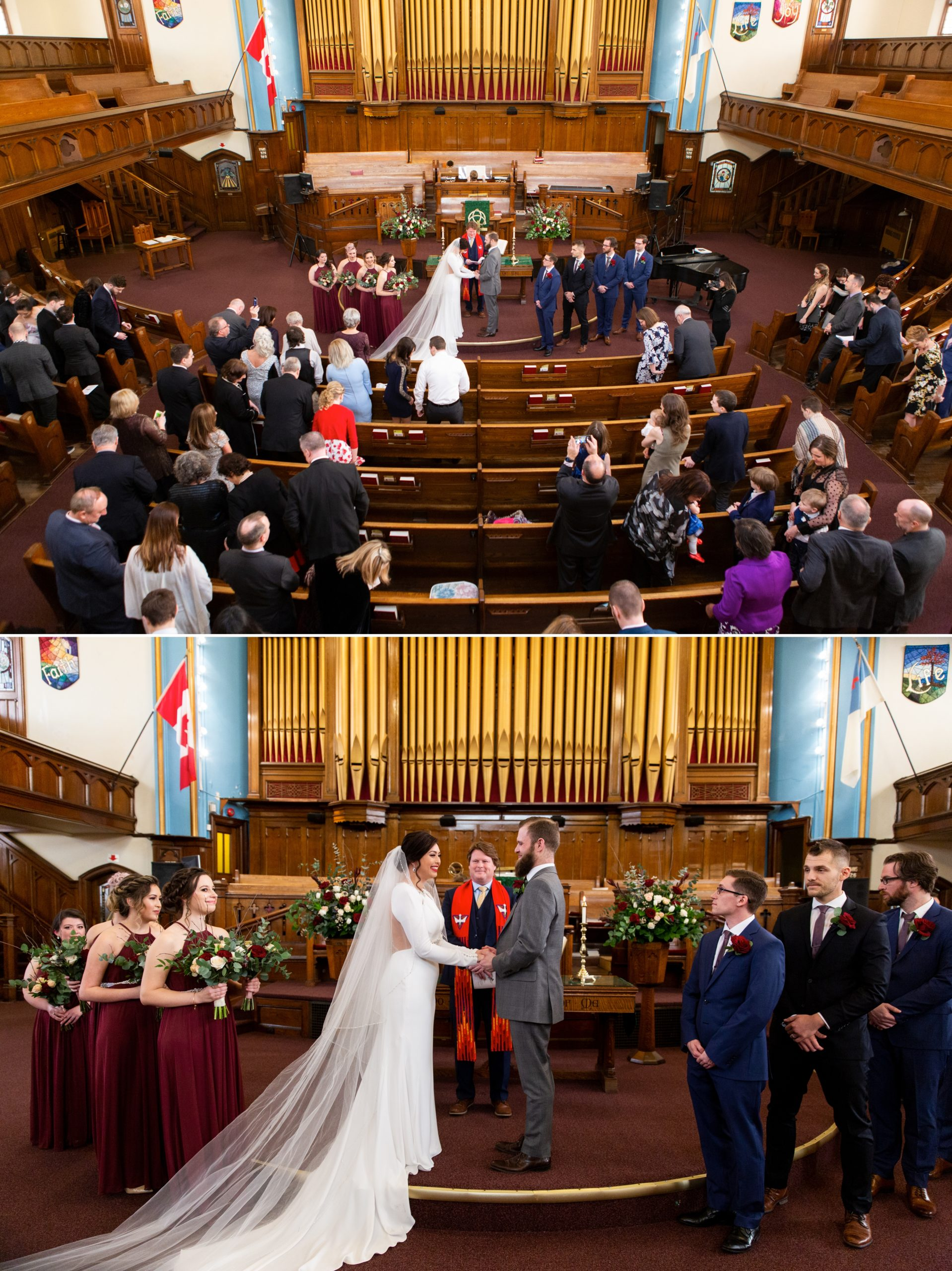 Organ Ceremony Winter Wedding, Ancaster, Hamilton, Zsuzsi Pal Photography