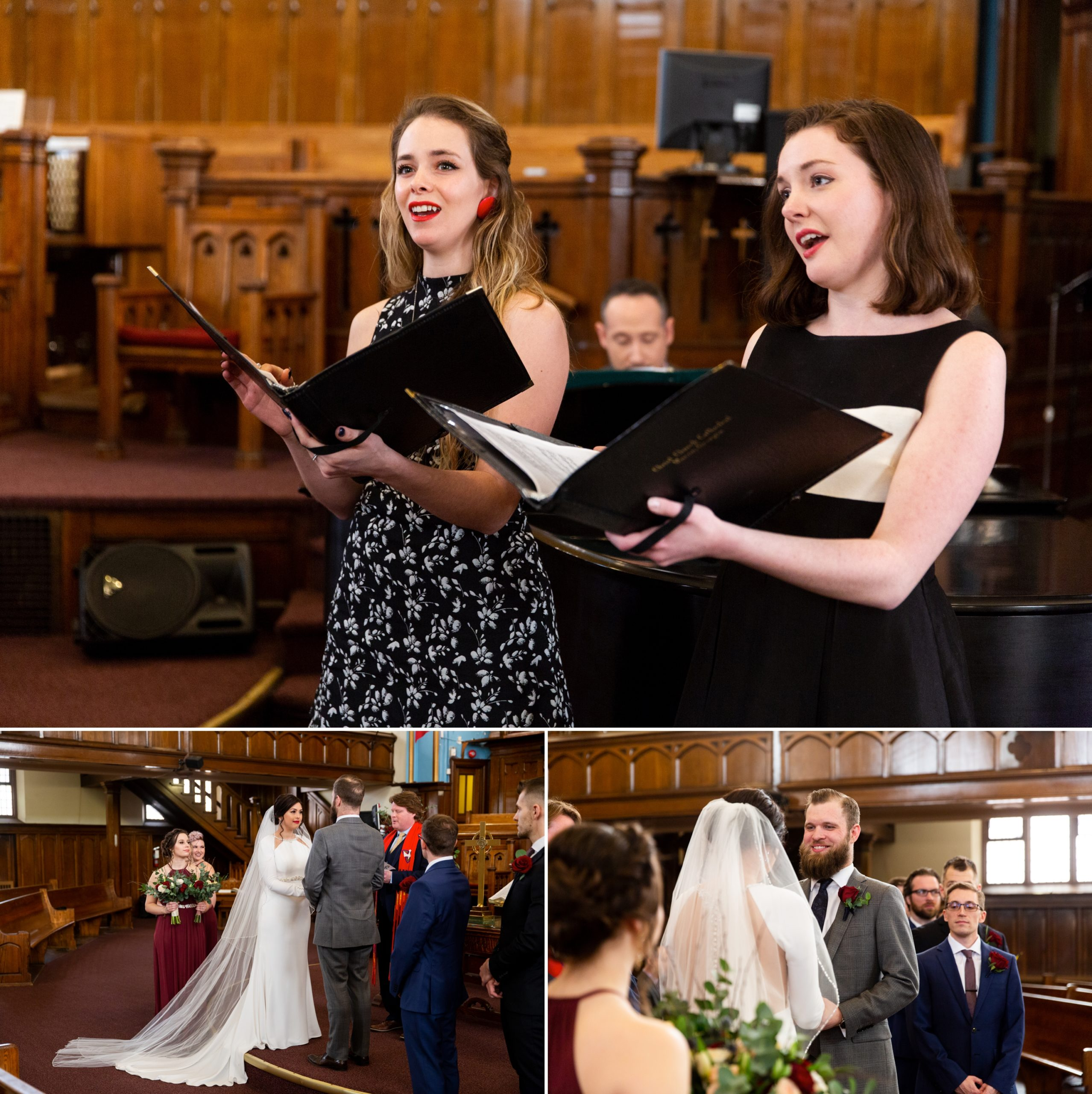 Singers Musicians Church Ceremony Winter Wedding, Ancaster, Hamilton, Zsuzsi Pal Photography