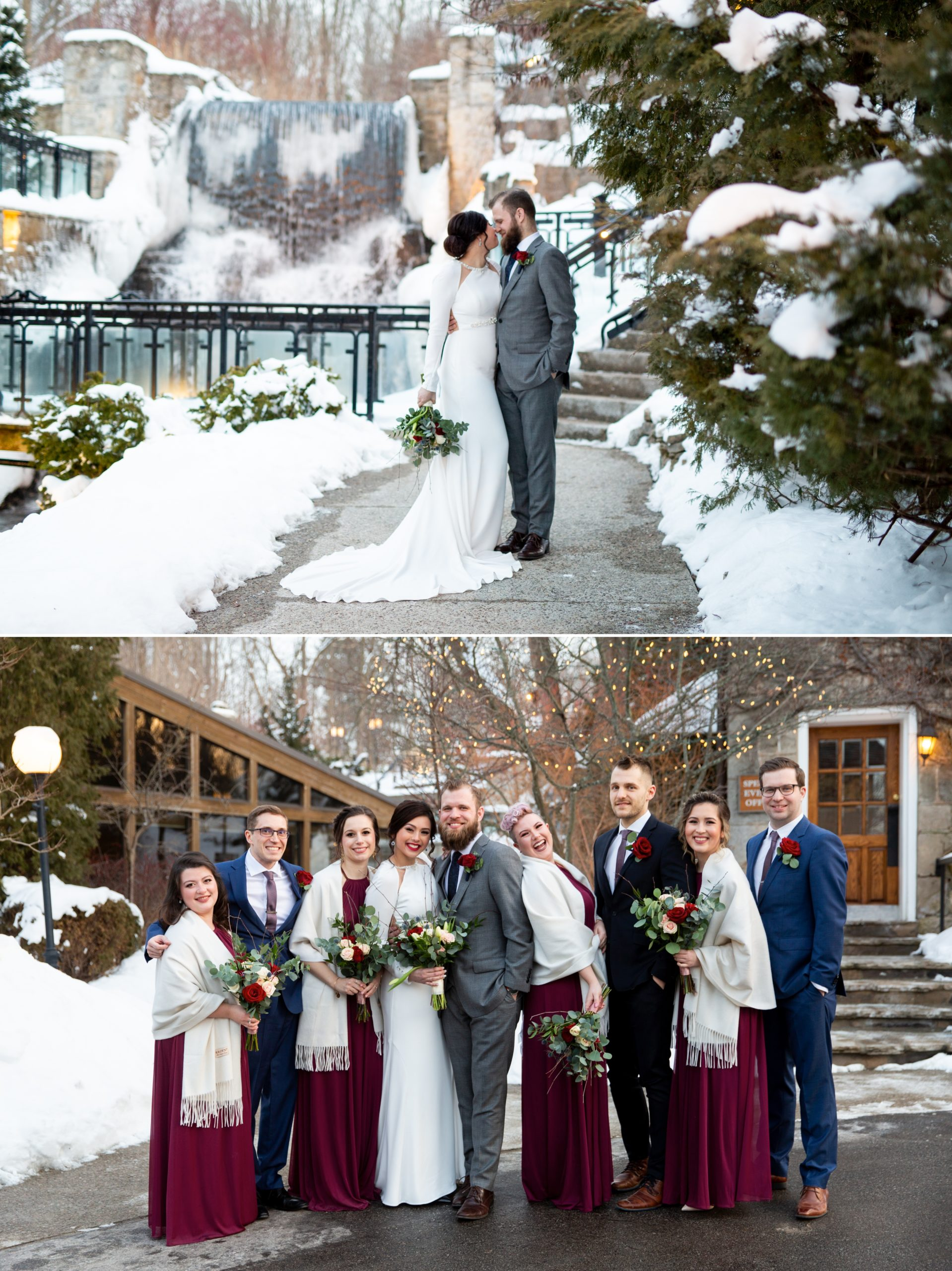 Ancaster Mill Winter Wedding, Ancaster, Hamilton, Zsuzsi Pal PhotographyBride Groom