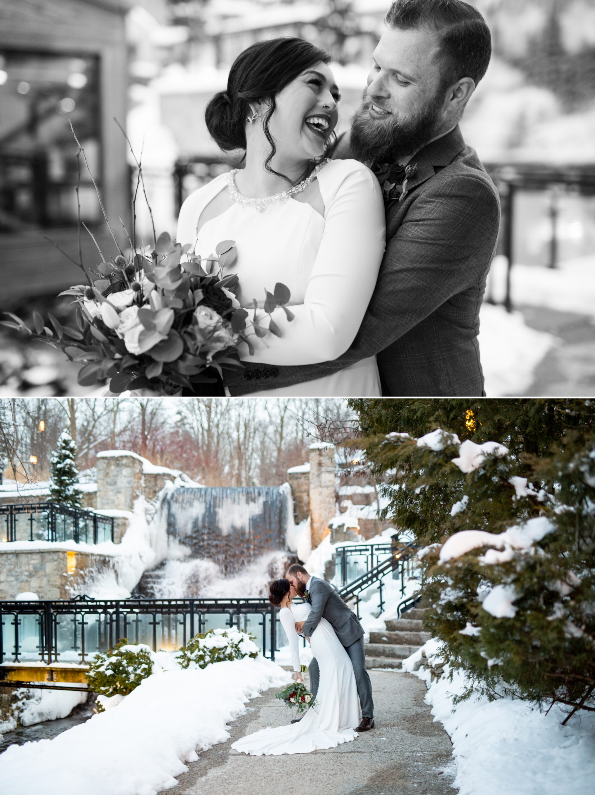 Cuddle Candid Portrait Ancaster Mill Winter Wedding, Ancaster, Hamilton, Zsuzsi Pal Photography