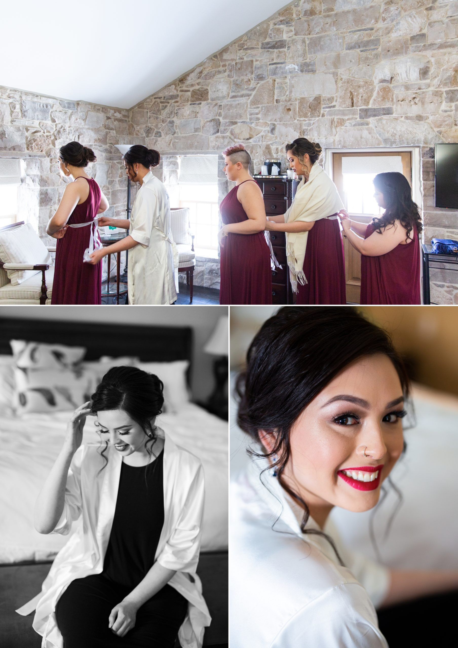 Bridesmaids Winter Wedding, Ancaster, Hamilton, Zsuzsi Pal Photography