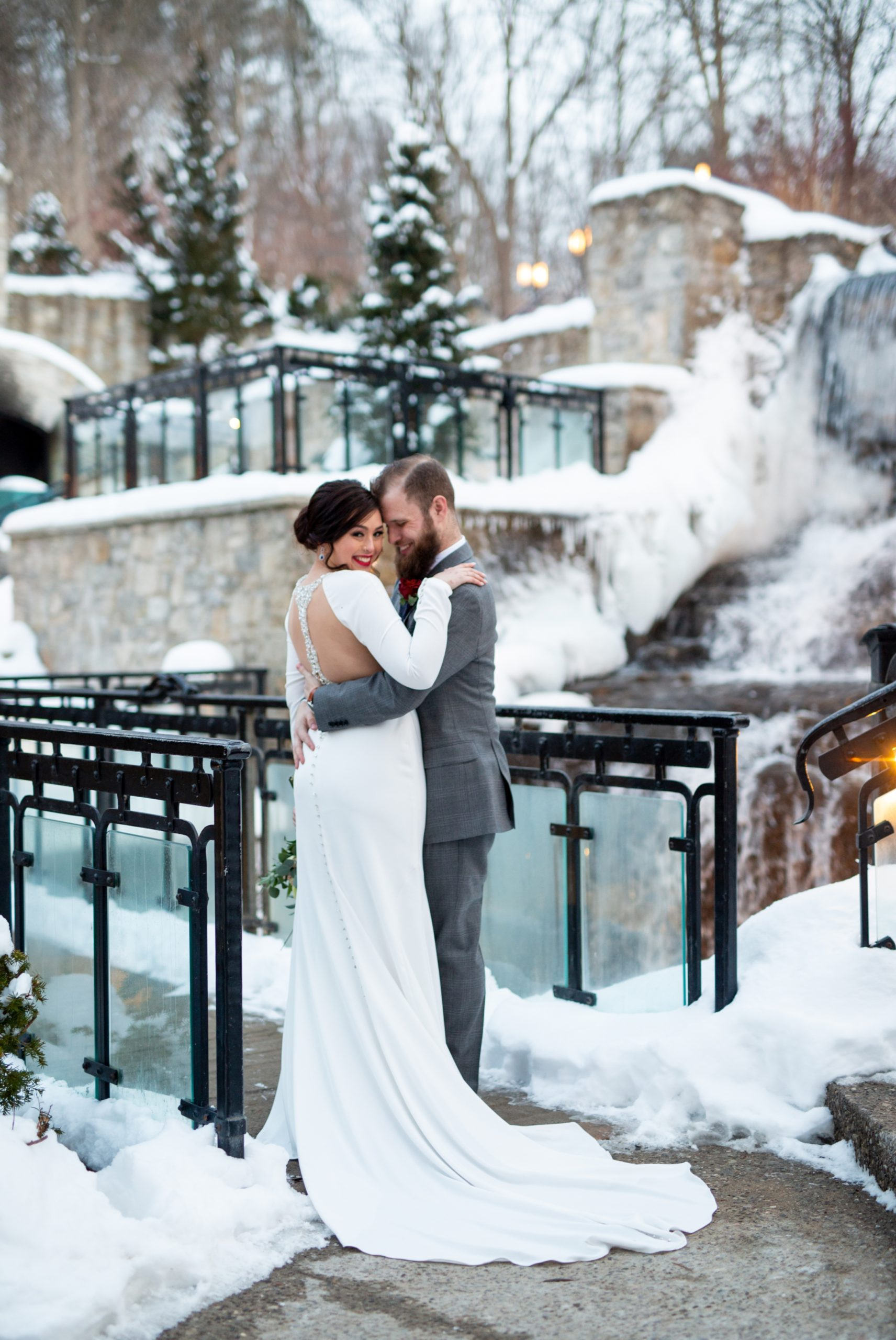 Portrait Ancaster Mill Winter Wedding, Ancaster, Hamilton, Zsuzsi Pal Photography