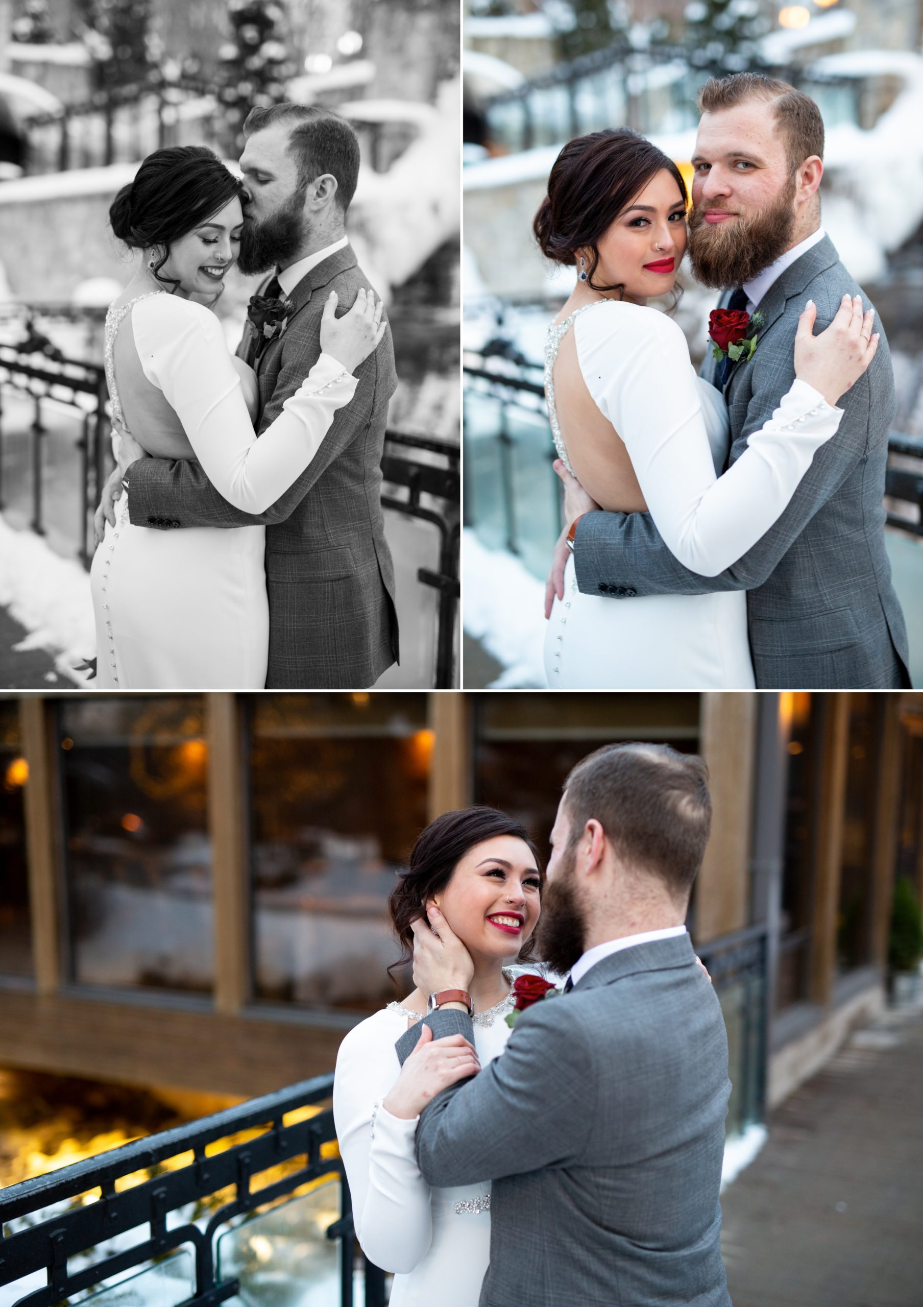 Portraits Bride Ancaster Mill Winter Wedding, Ancaster, Hamilton, Zsuzsi Pal Photography