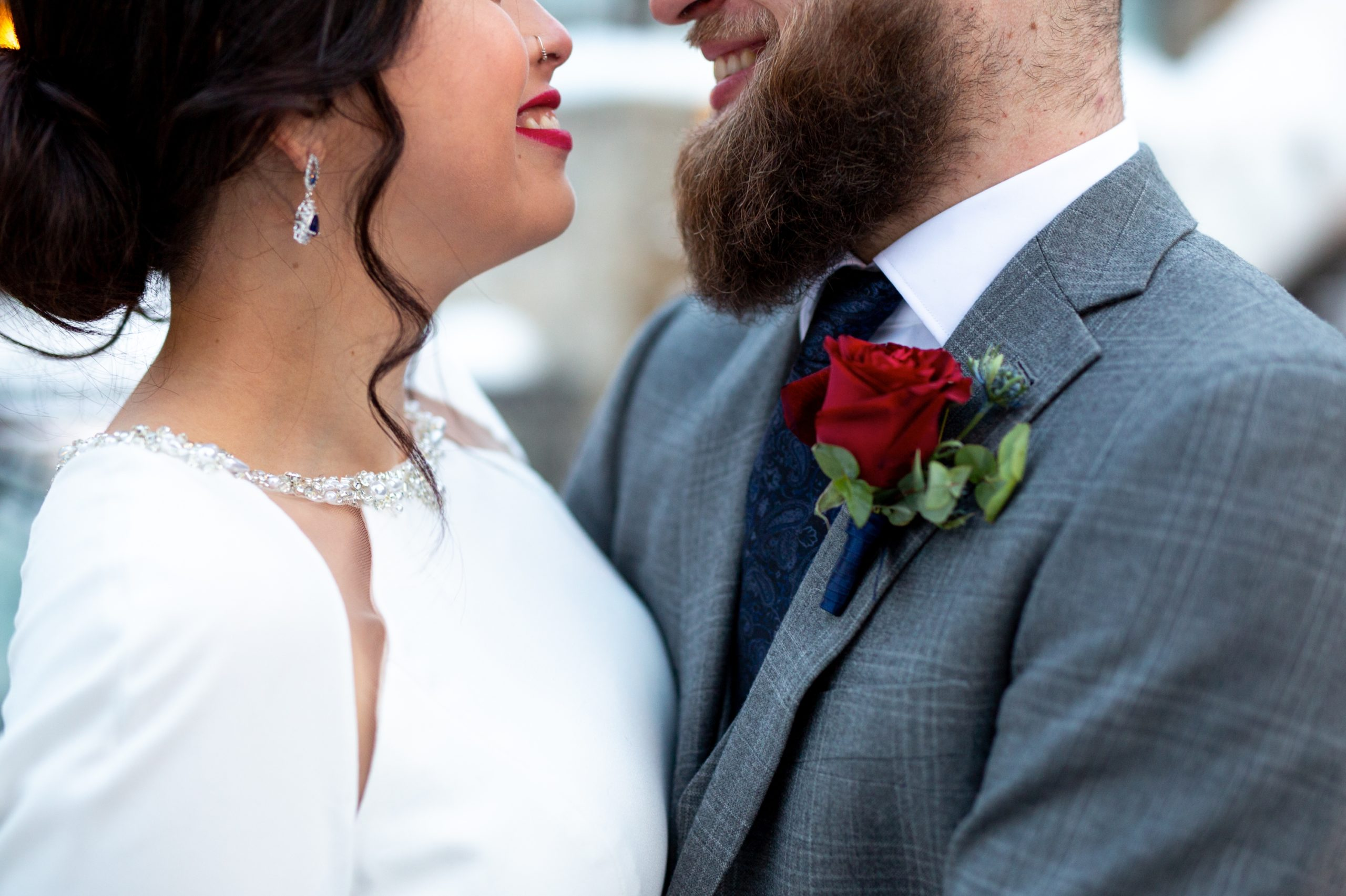 Red Rose Lips Ancaster Mill Winter Wedding, Ancaster, Hamilton, Zsuzsi Pal Photography