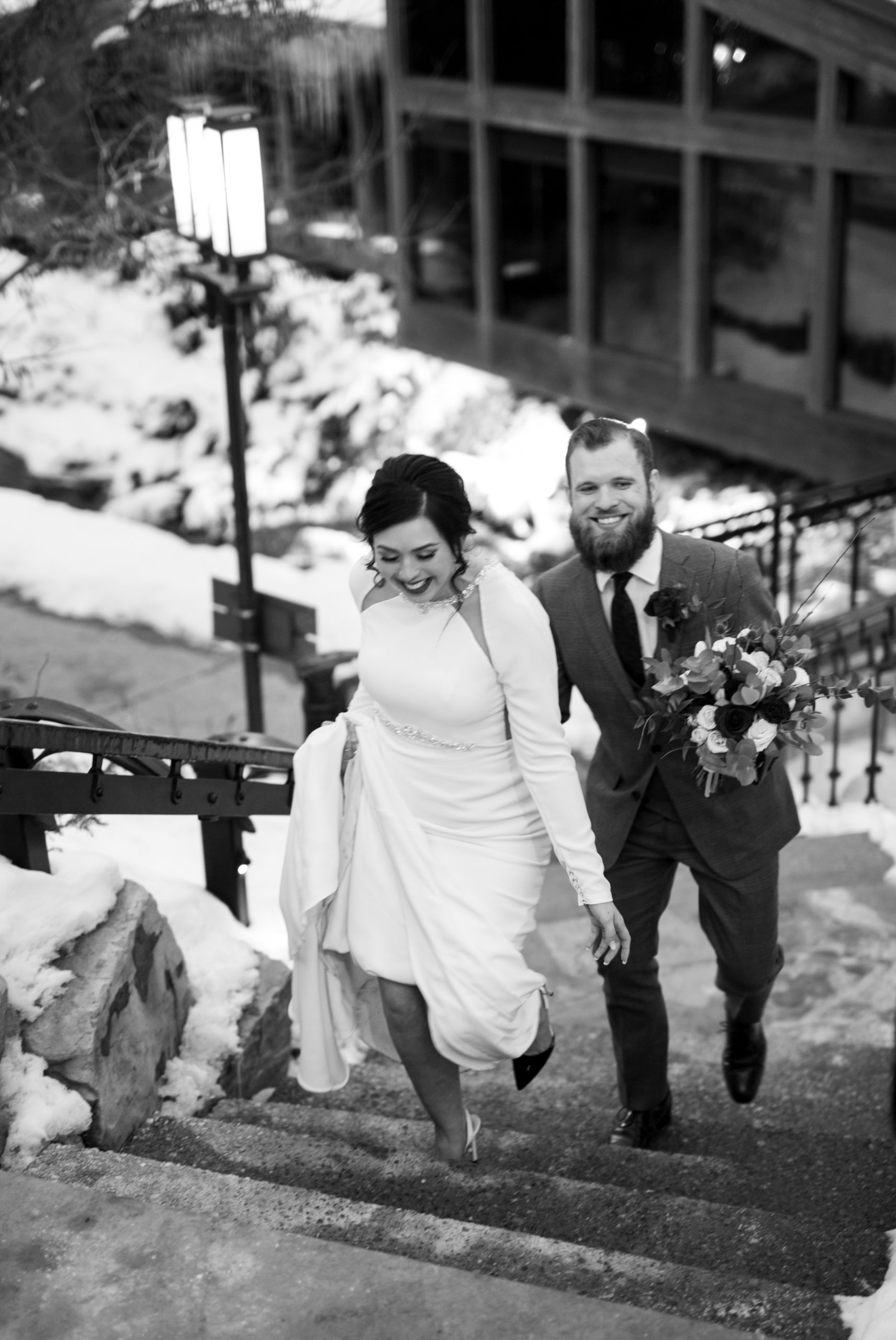Couple Candid Ancaster Mill Winter Wedding, Ancaster, Hamilton, Zsuzsi Pal Photography