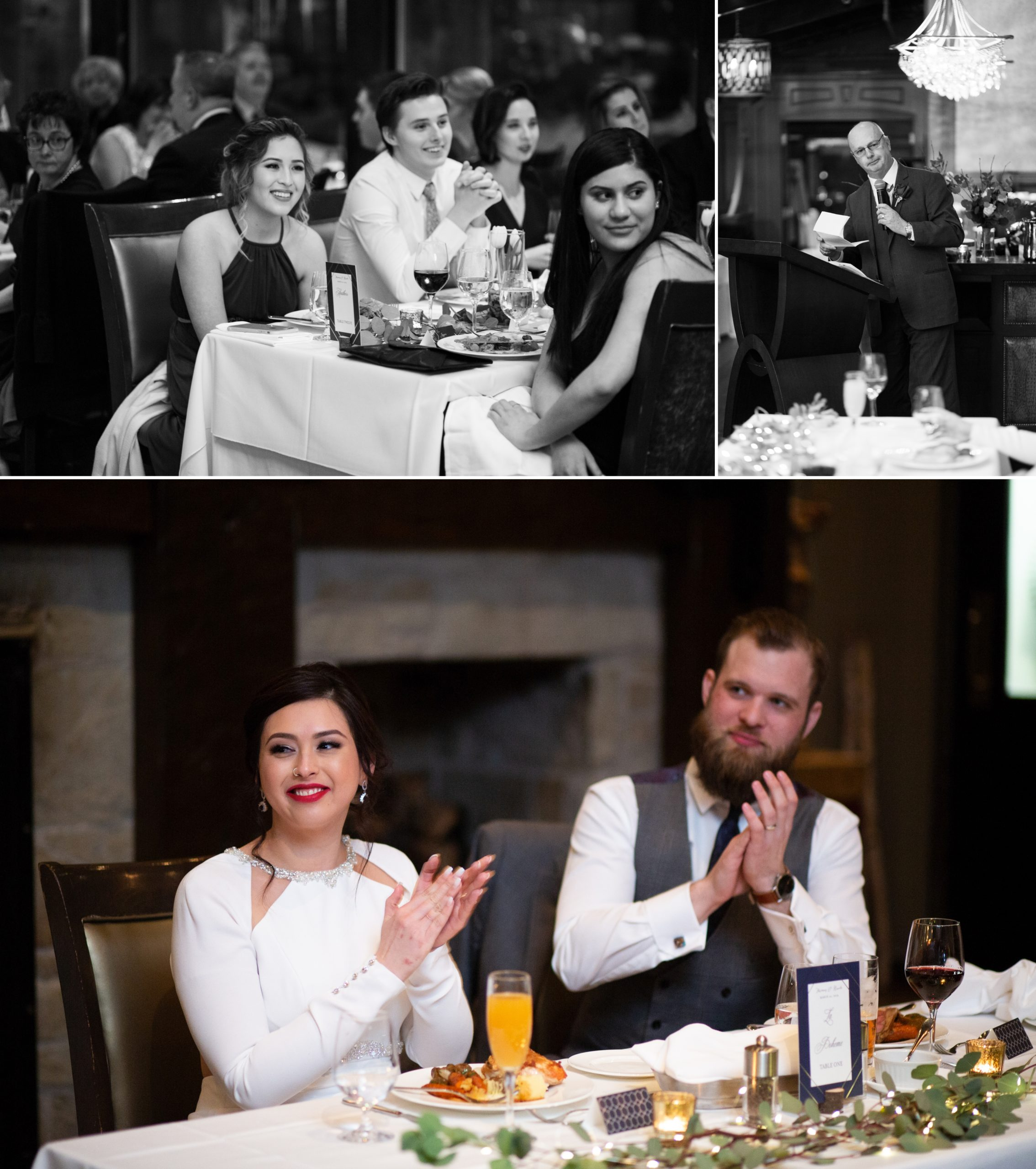 Candid Reception Ancaster Mill Winter Wedding, Ancaster, Hamilton, Zsuzsi Pal Photography