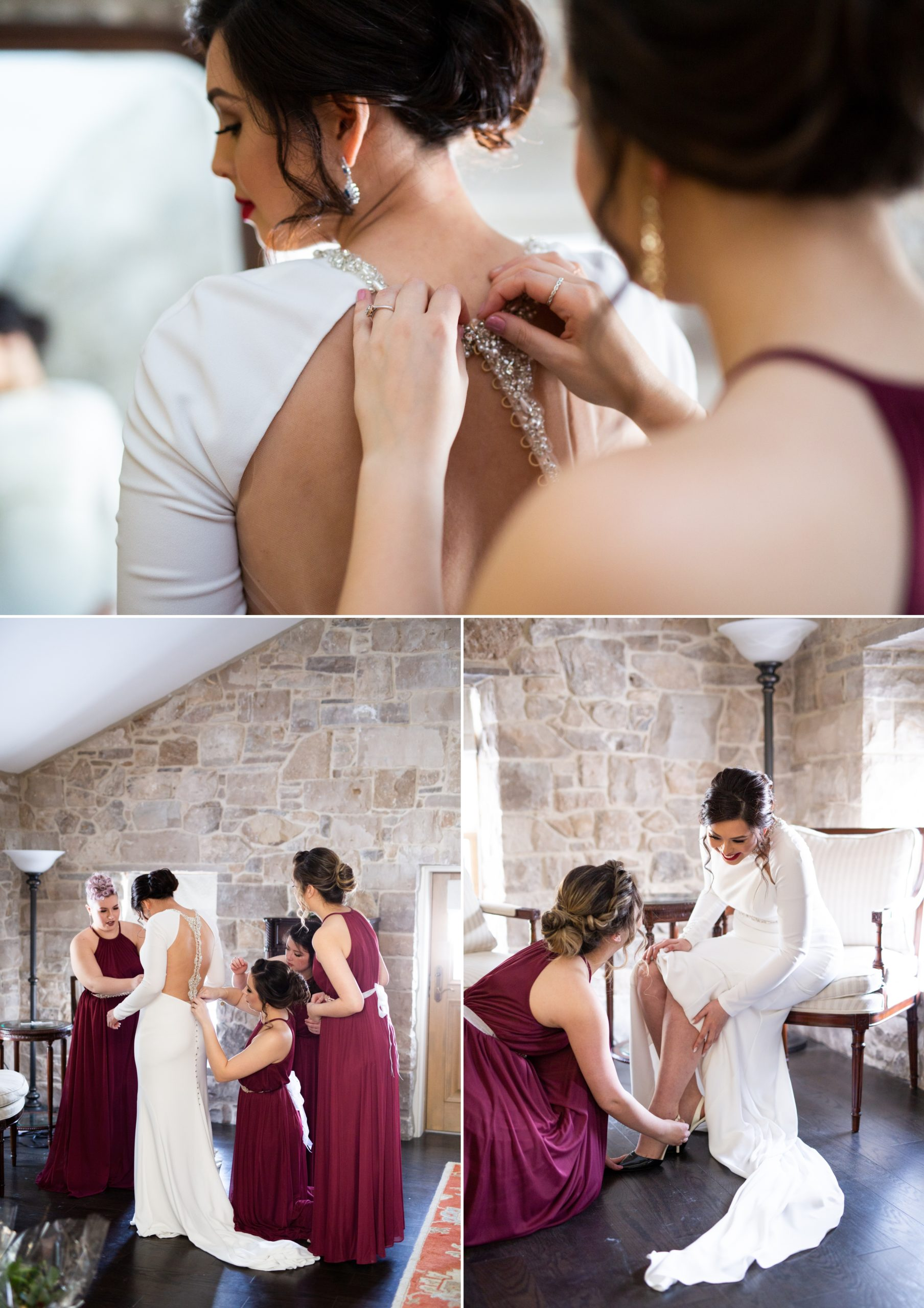 Crepe Dress Bridesmaids Winter Wedding, Ancaster, Hamilton, Zsuzsi Pal Photography