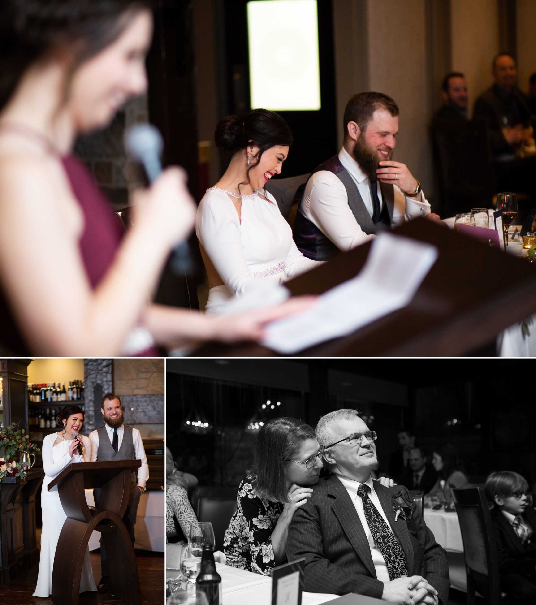 Candid Speech Ancaster Mill Winter Wedding, Ancaster, Hamilton, Zsuzsi Pal Photography