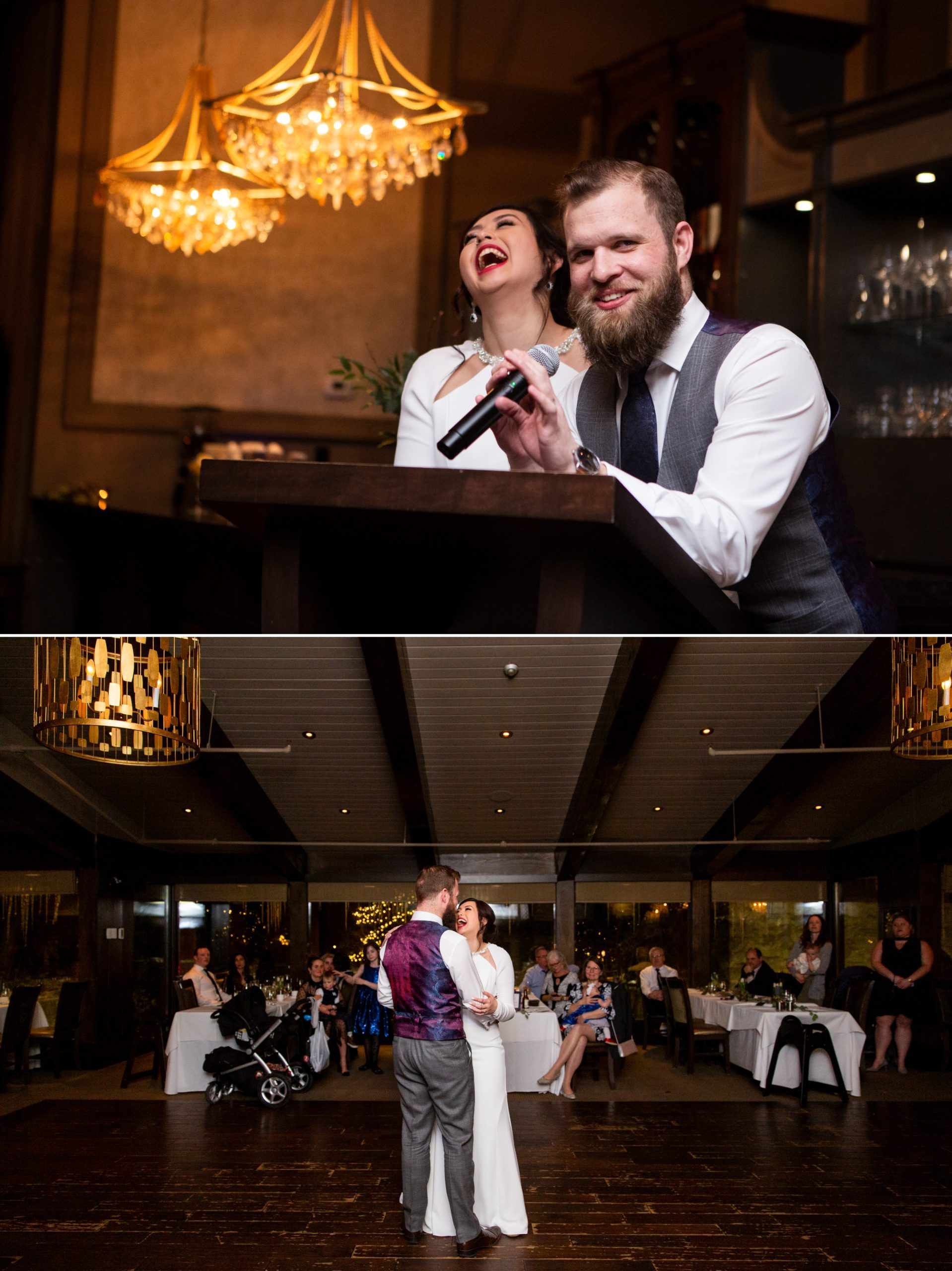 Bride Groom Speech Ancaster Mill Winter Wedding, Ancaster, Hamilton, Zsuzsi Pal Photography