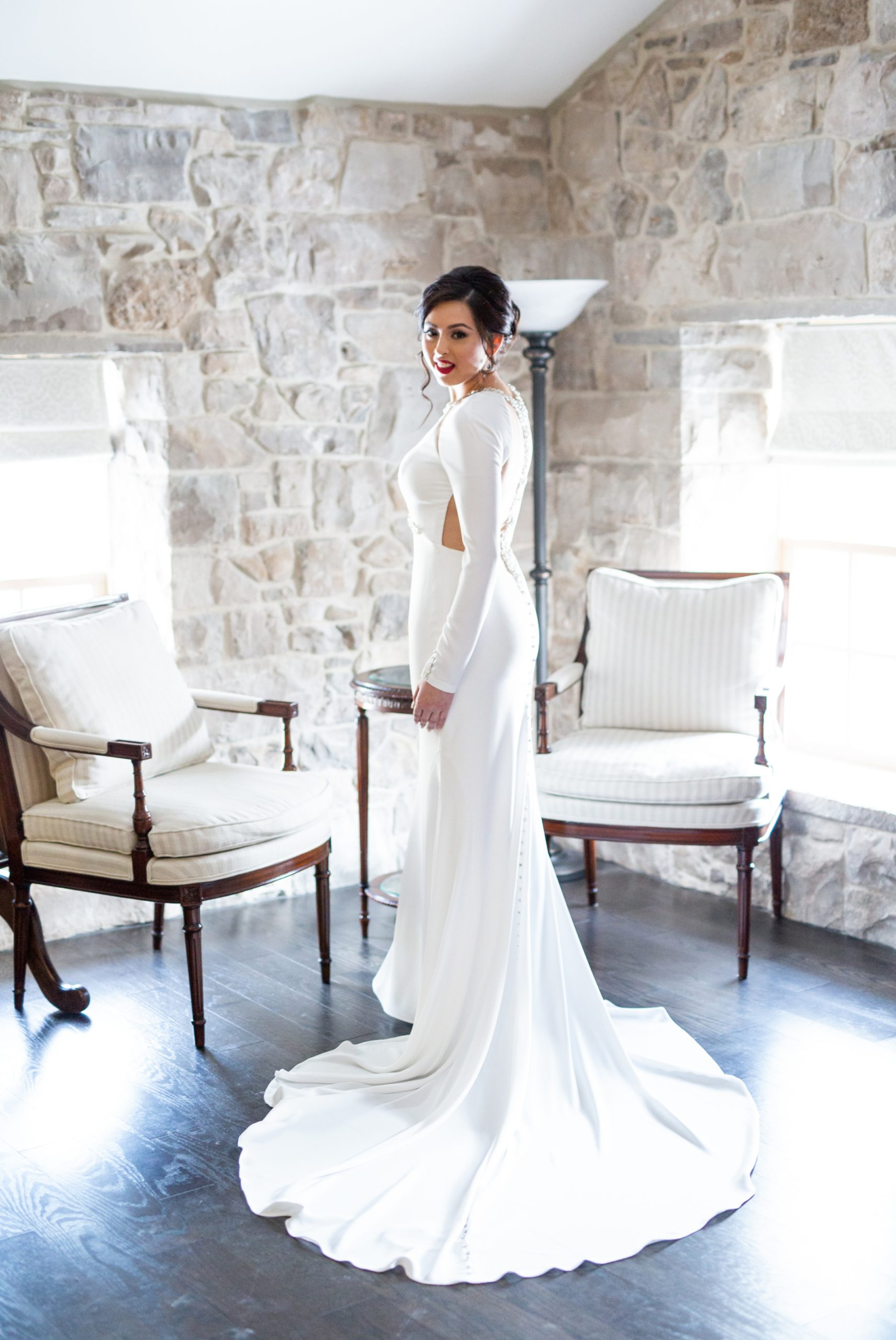 Bride Portrait Winter Wedding, Ancaster, Hamilton, Zsuzsi Pal Photography