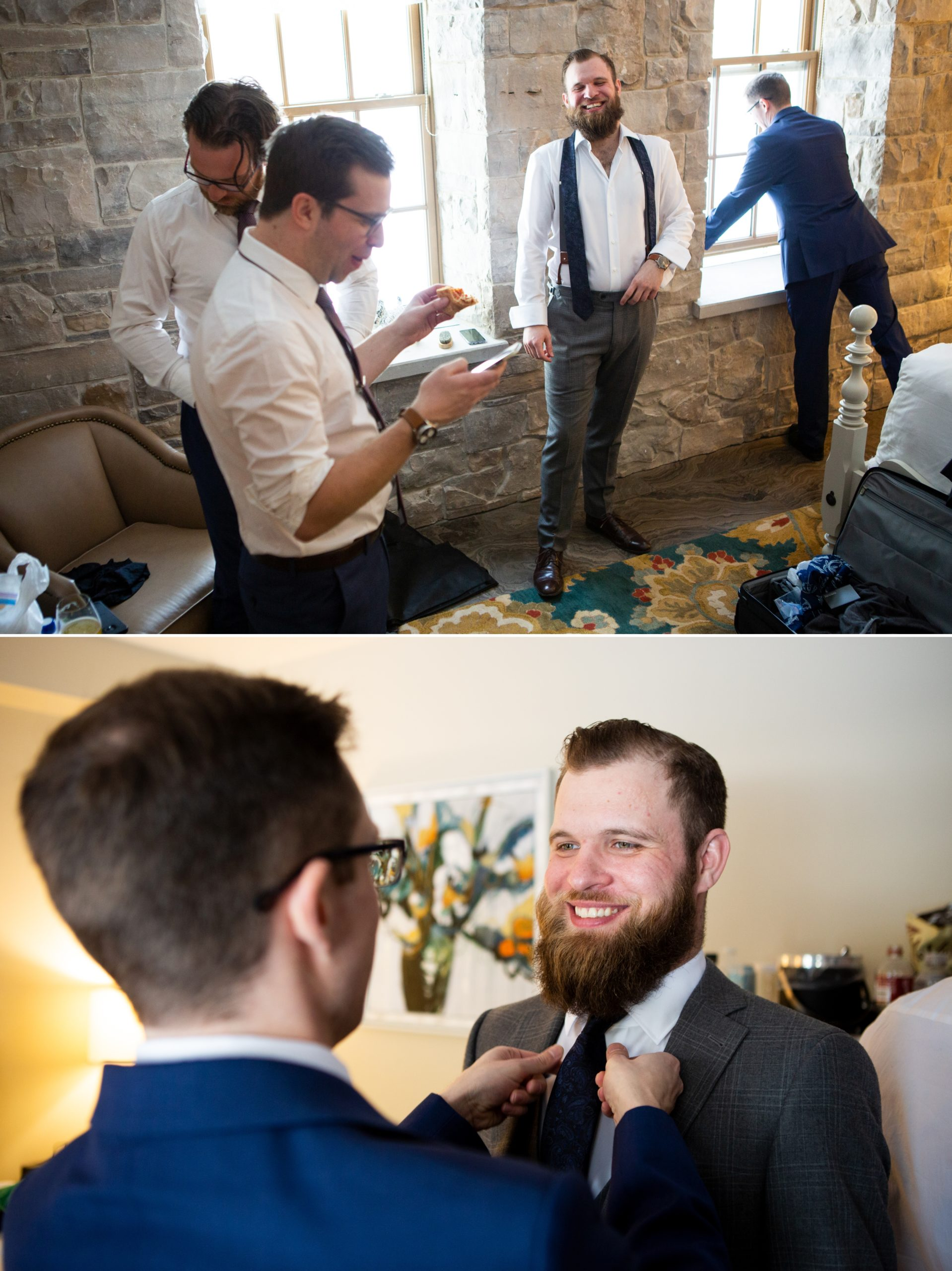 Groomsmen Winter Wedding, Ancaster, Hamilton, Zsuzsi Pal Photography