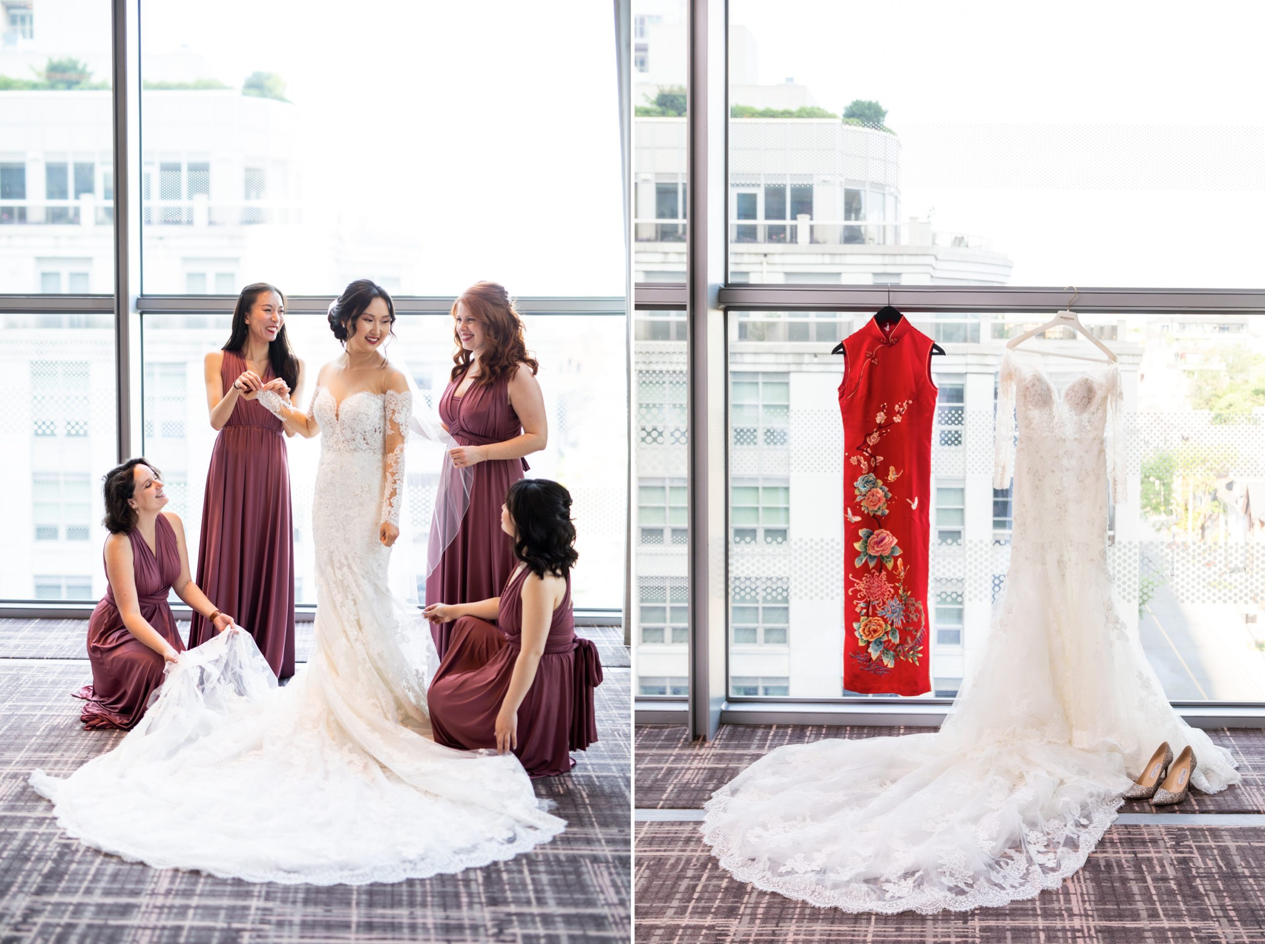Chinese Dress Bridesmaids Zsuzsi Pal Photography Toronto Burlington